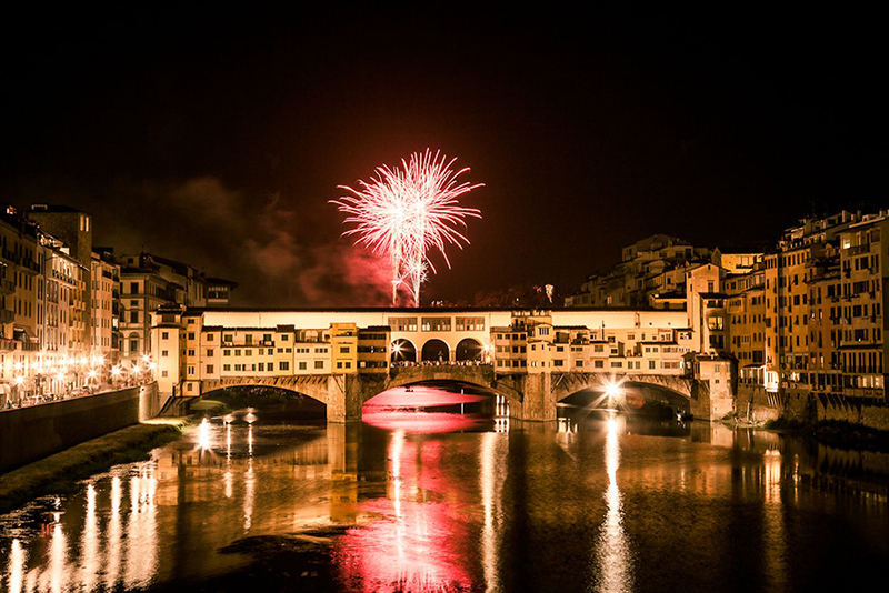 The fireworks of San Giovanni in Florence