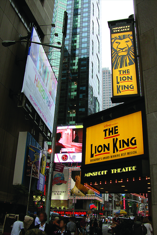 il re leone time square