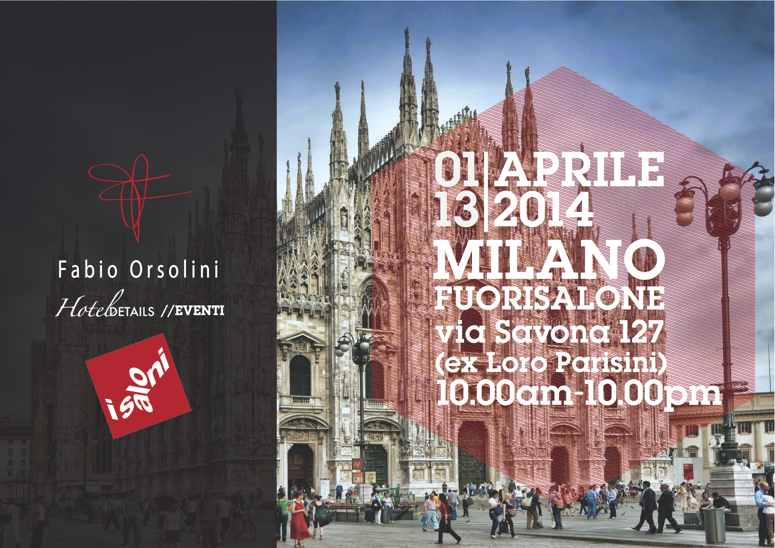 Fabio Orsolini at  Salone del Mobile with Hotel Details