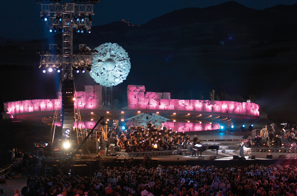 Andrea Bocelli presents the Teatro del Silenzio