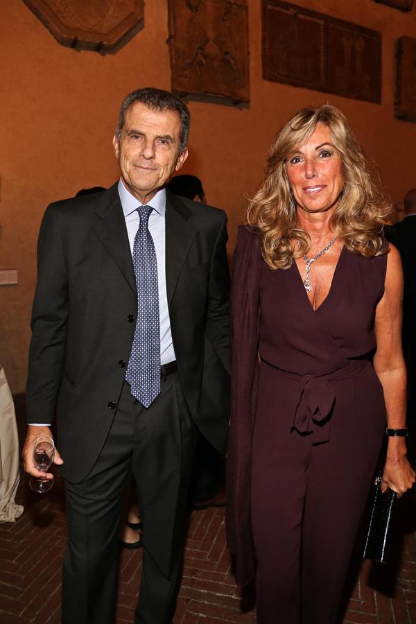 Ferruccio Feragamo and Ornella Pontello