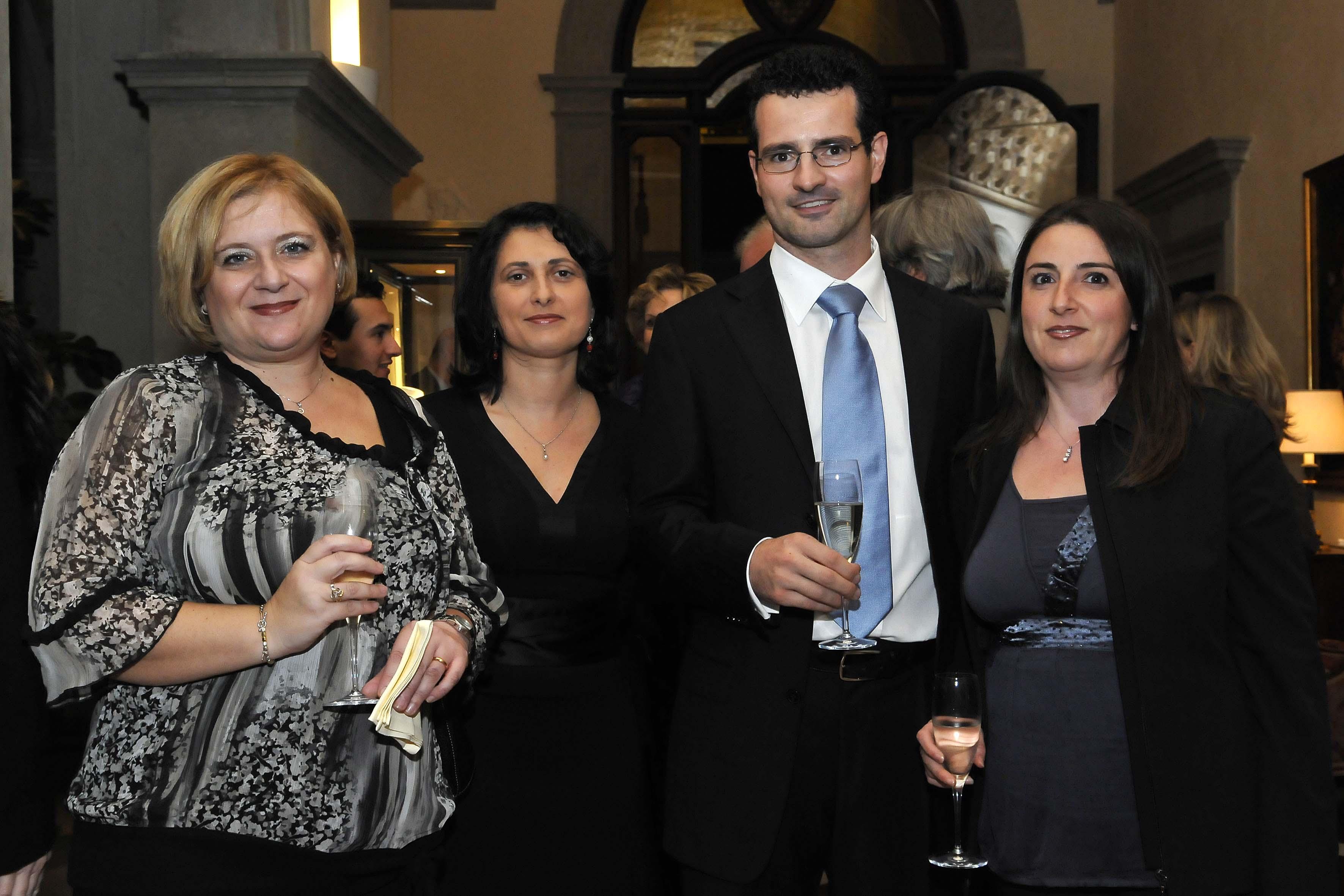 da sx: Alessandra Pellegini,Silvia Leoni,Stefano Frenos,Barbara del Runghi