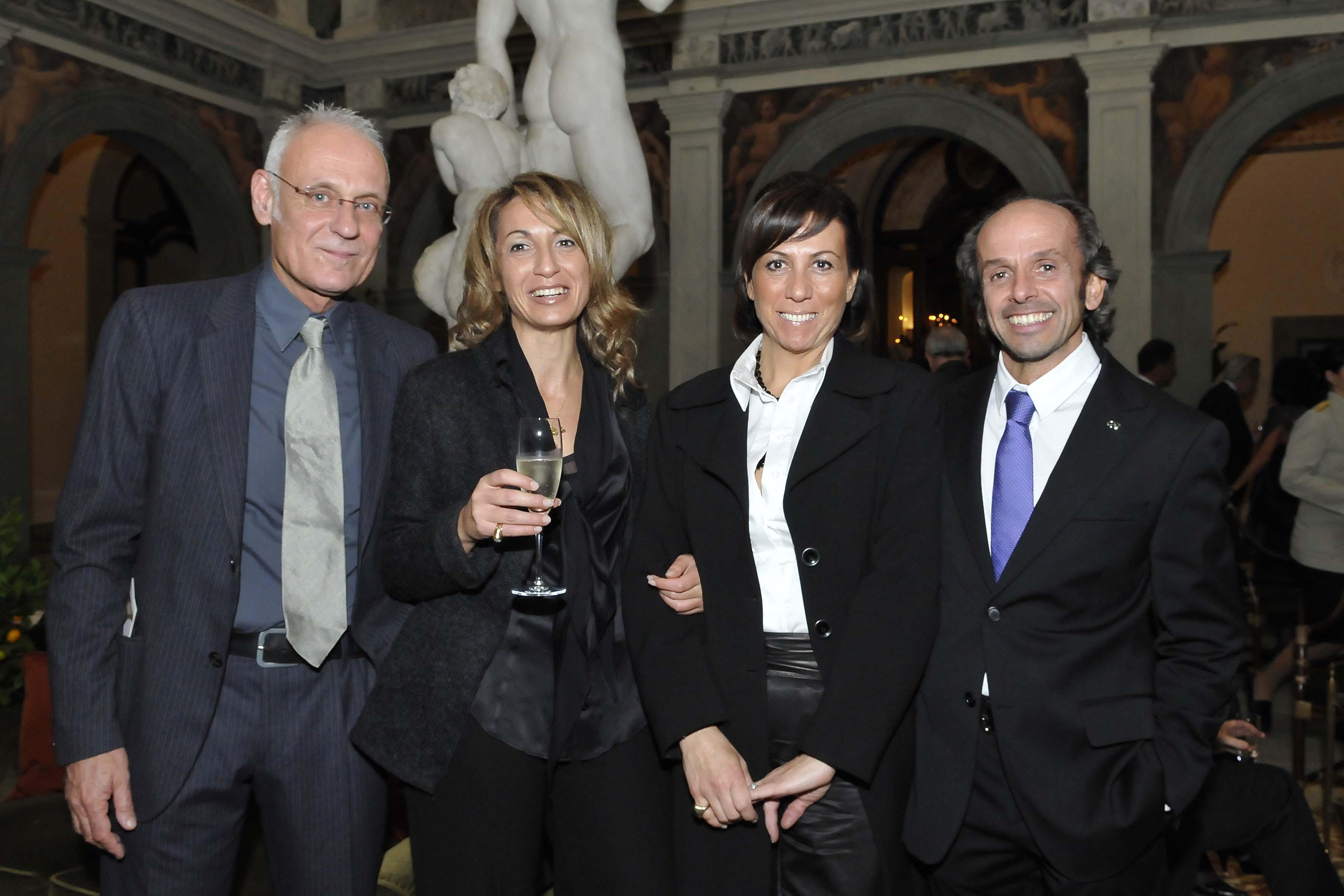 da sx: Massimo Materassi,Sandra Deplano,Francesca Ambrosetti,Marco Ambrosetti
