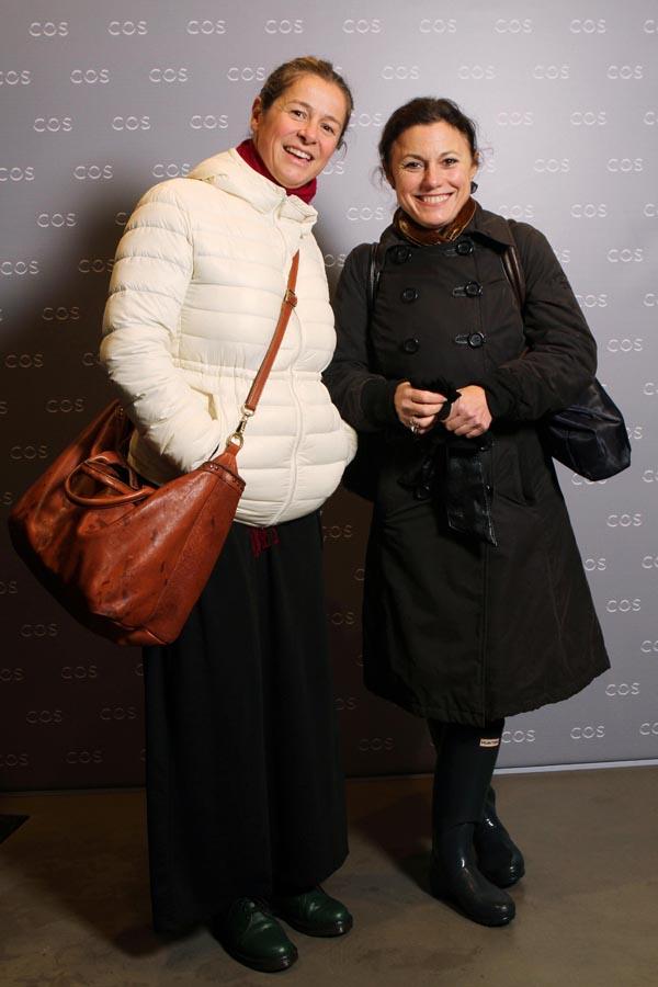 PRESSSPHOTO Firenze COS: inaugurazione negozio di Firenze in via della Vigna Nuova. Nella foto Marta Cangioli e Lucia Montigiani. Marco Mori/New Press Photo