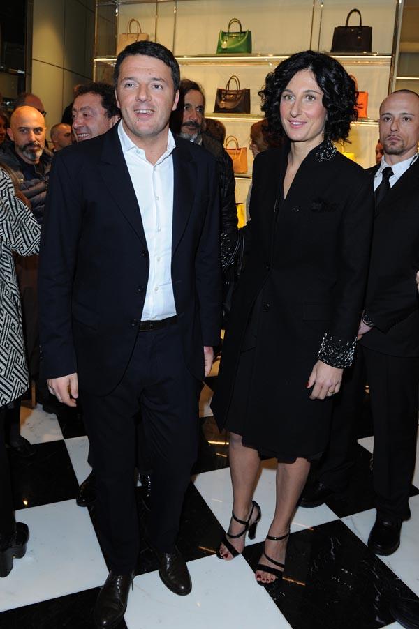 Matteo Renzi and Agnese Landini