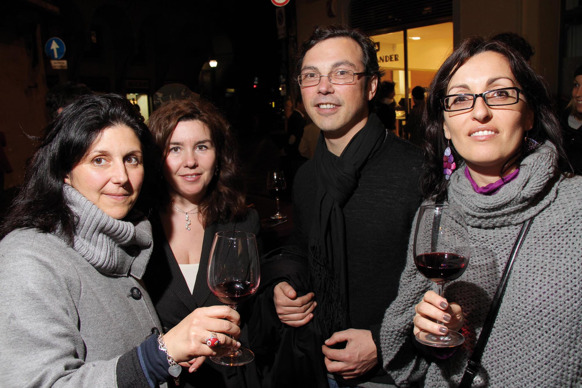 PRESSPHOTO Firenze, Boutique Alexander, via della Vigna Nuova. Stefania e Filippo Rocchi, Daniela Mugnai e Francesca Lucchese.