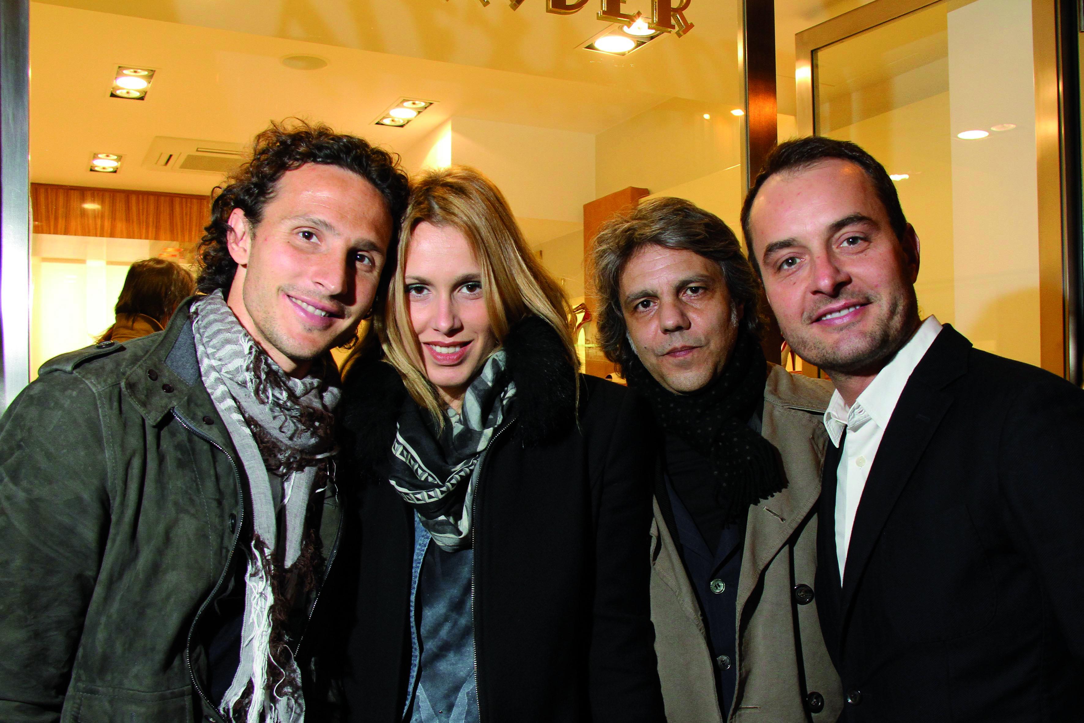 PRESSPHOTO Firenze, Boutique Alexander, via della Vigna Nuova. Comotto con la moglie, Michele Tanci e Massimo Orru.