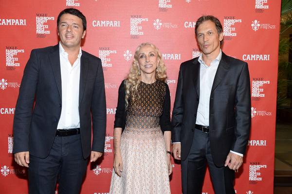 Matteo Renzi, Franca Sozzani, Jean Jacques Dubau