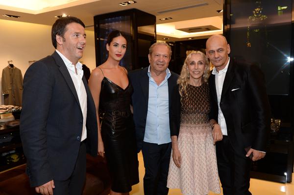 Matteo Renzi, Ermanno Scervino, Franca Sozzani, Toni Scervino