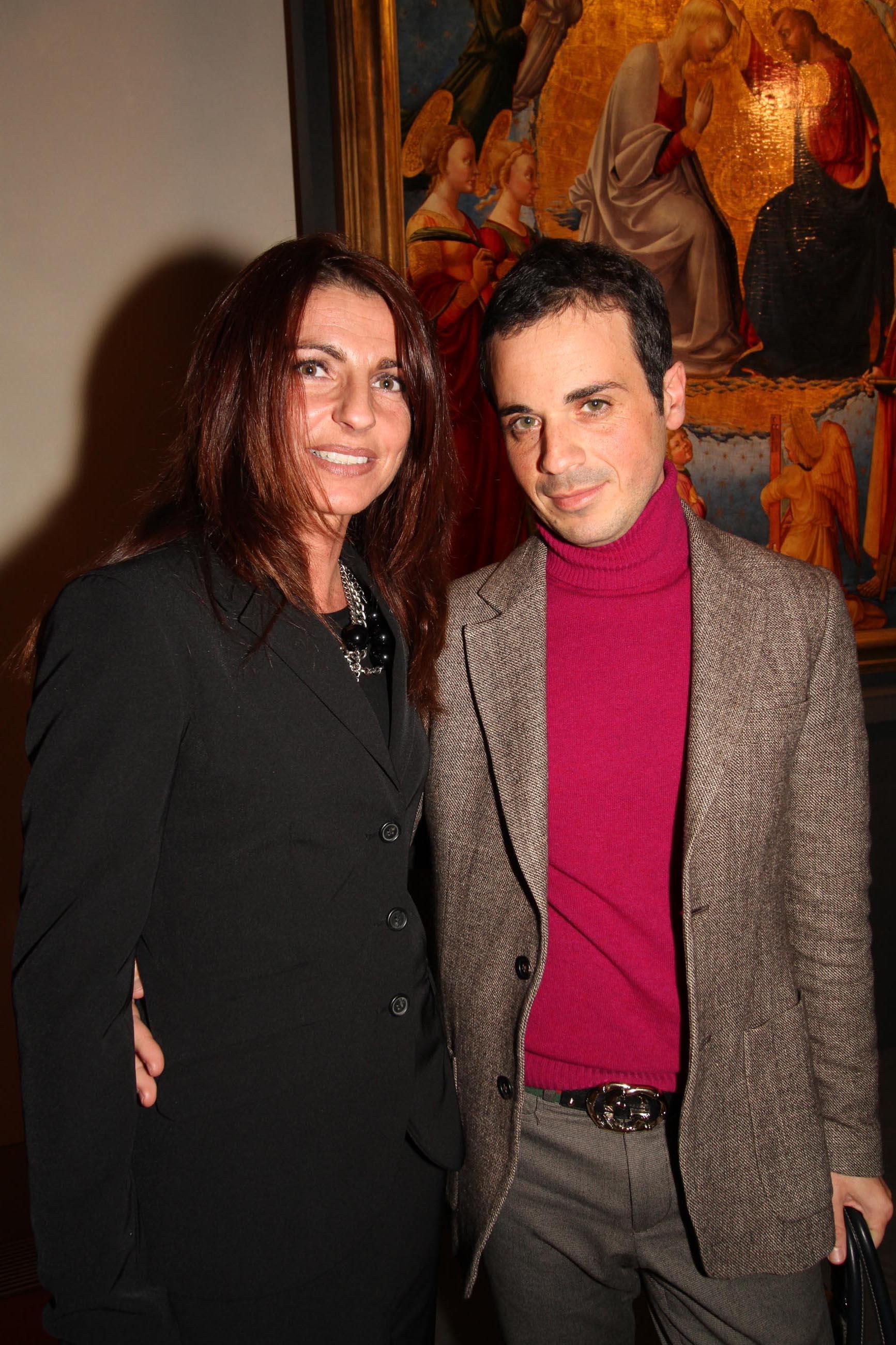 PRESSPHOTO Firenze, Asta di Gioielli d'epoca all' Istituto degli Innocenti. Nella foto Luciana Toccafondi e A.M. Raffaelli