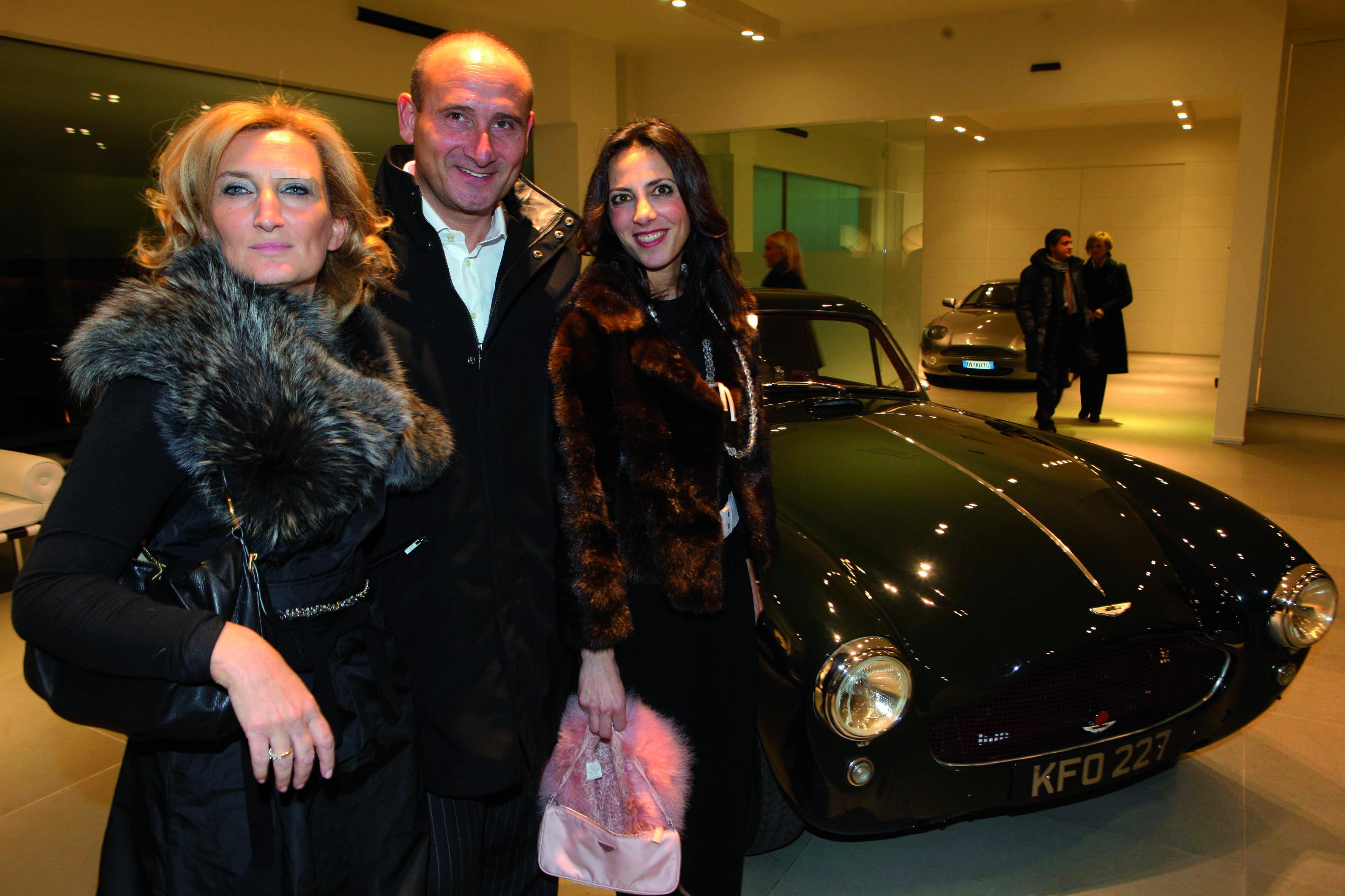 Pressphoto, Firenze Magazine Campi Bisenzio, inaugurazione nuova sede Aston Martin nella foto :Serena Pieri, Stefano Moscardi,Annarita Santoro