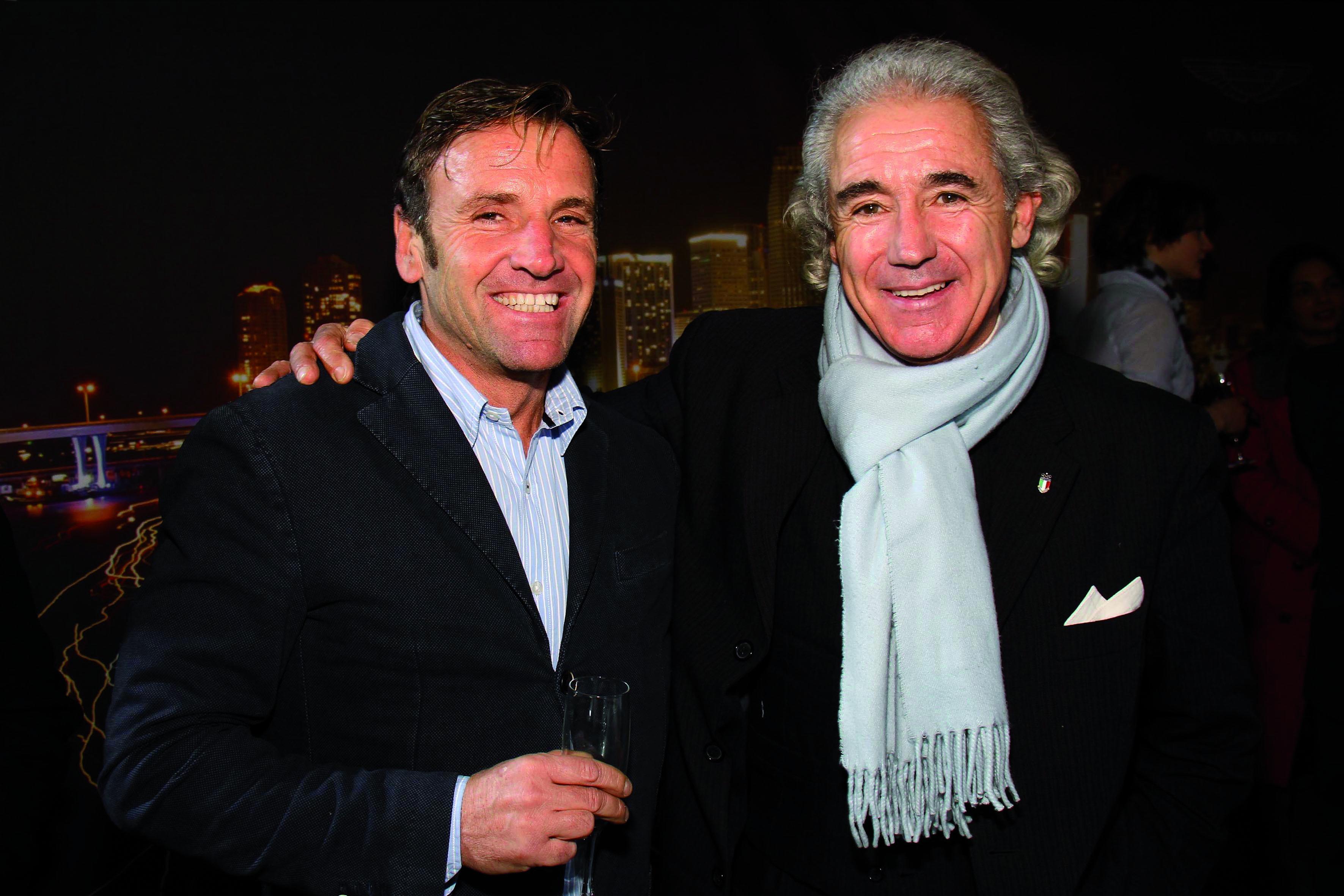 PRESSPHOTO. Firenze, nuova concessionaria Aston Martin. Nella foto Massimo Laschi e Mario Leoni