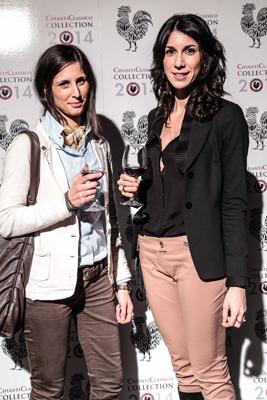 PRESSPHOTO Firenze, cena del Chianti Classico alla Leopolda. Nella foto Francesca Degl'Innocenti e Giusi De Marco Giuseppe cabras/new pressphoto
