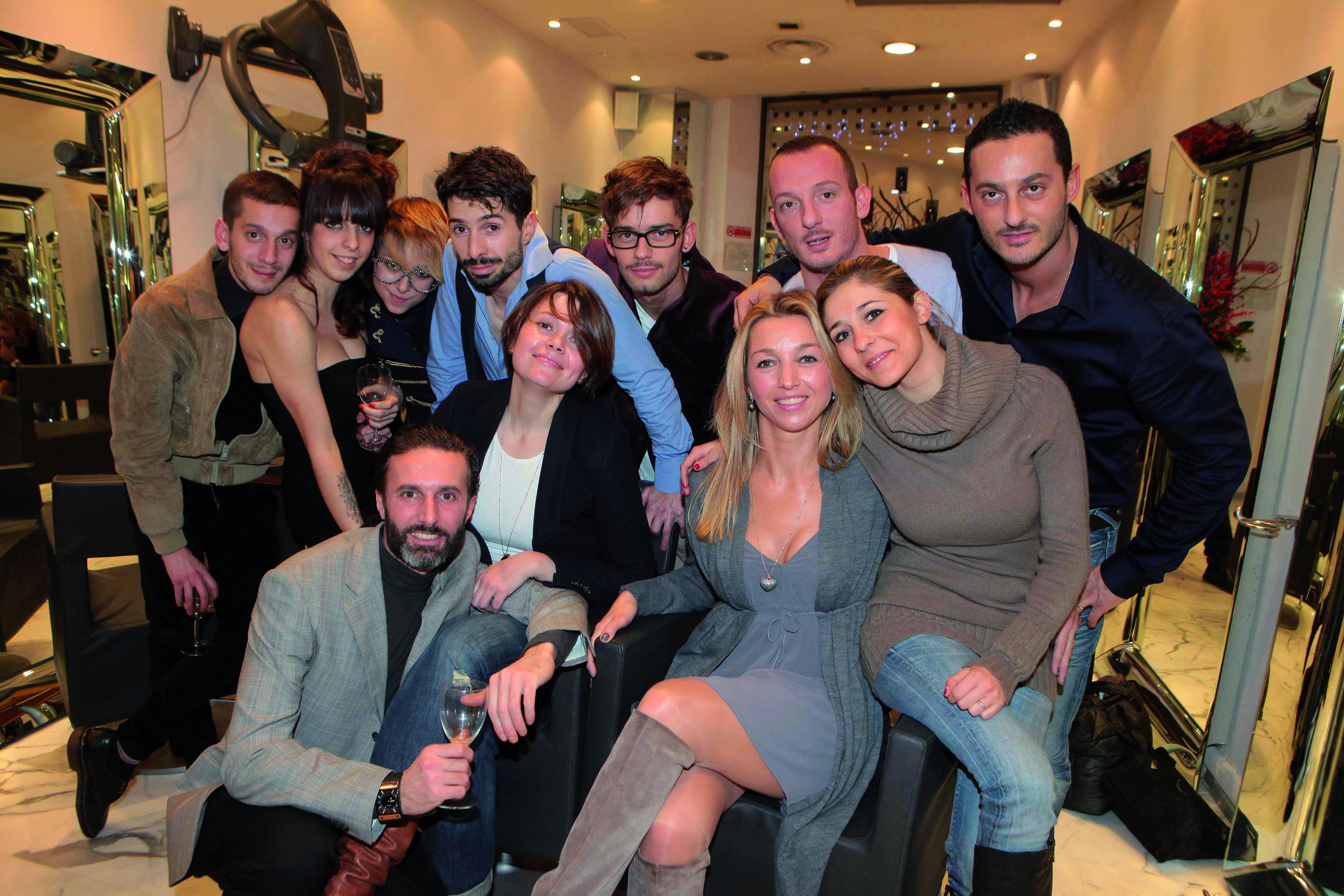 pressphoto-Firenze  parrucchiere Coppola via del Parione  Aperitivo    Staff Coppola