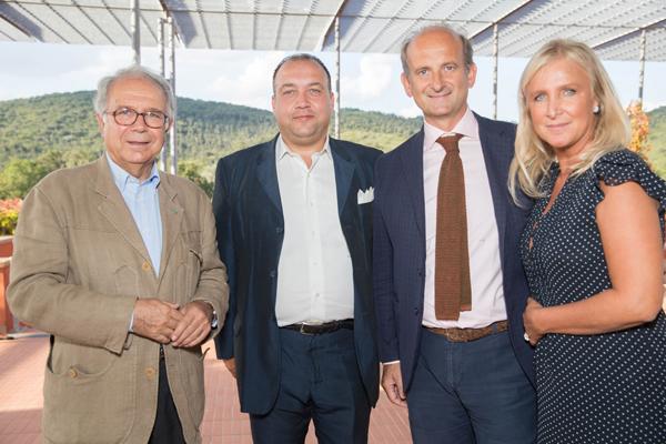 Paolo Panerai, Alessandro Cellai, Lamberto and Eleonora Frescobaldi