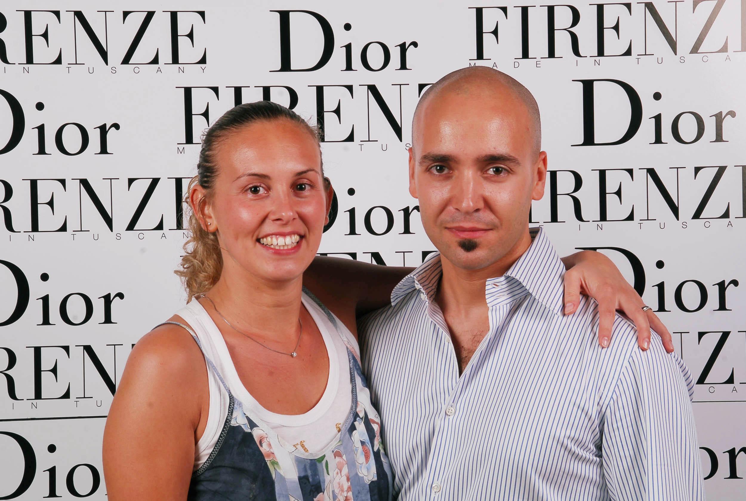 PRESSPHOTO  Firenze, evento Dior al teatro romano di Fiesole. Nella foto Paolo Nardi e Chiara Mammoli