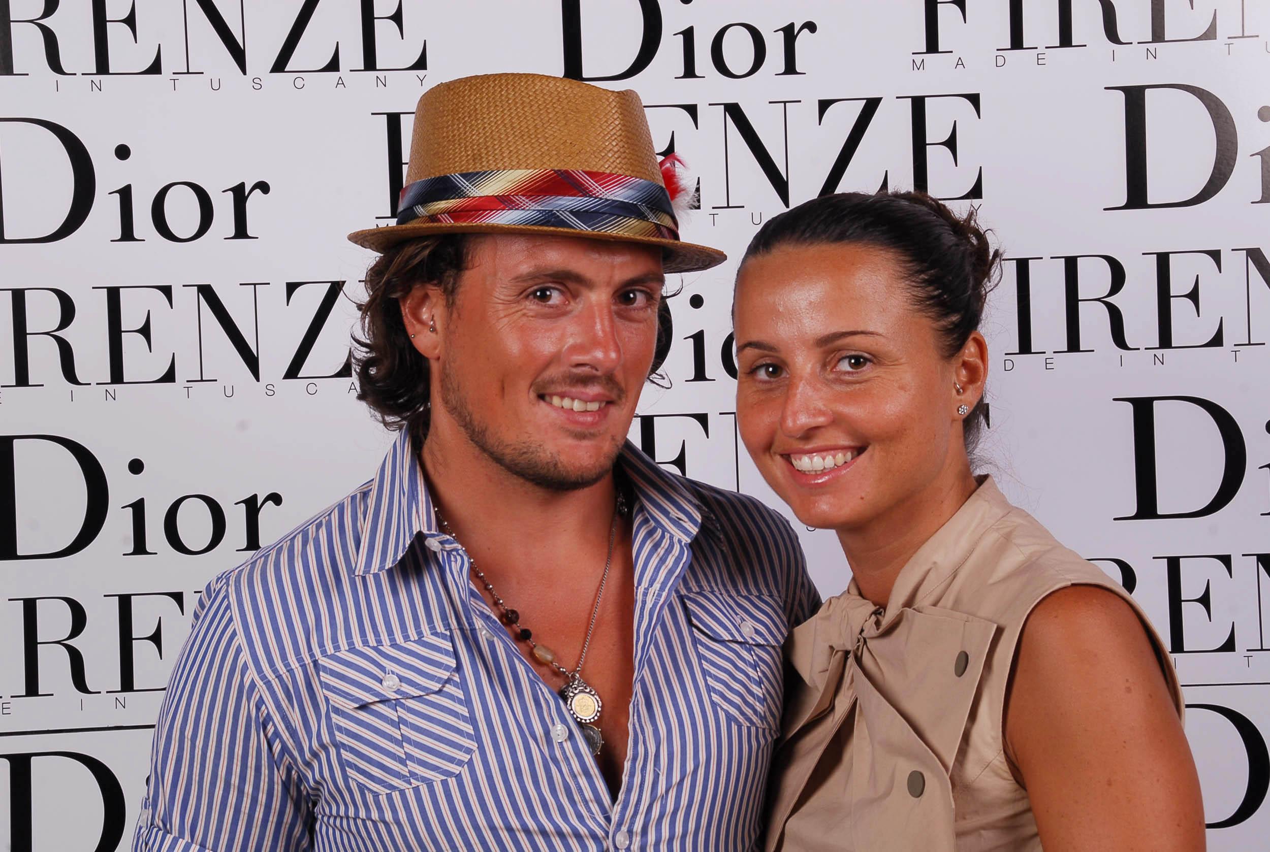 PRESSPHOTO  Firenze, evento Dior al teatro romano di Fiesole. Nella foto Francesca e Andrea Cresci