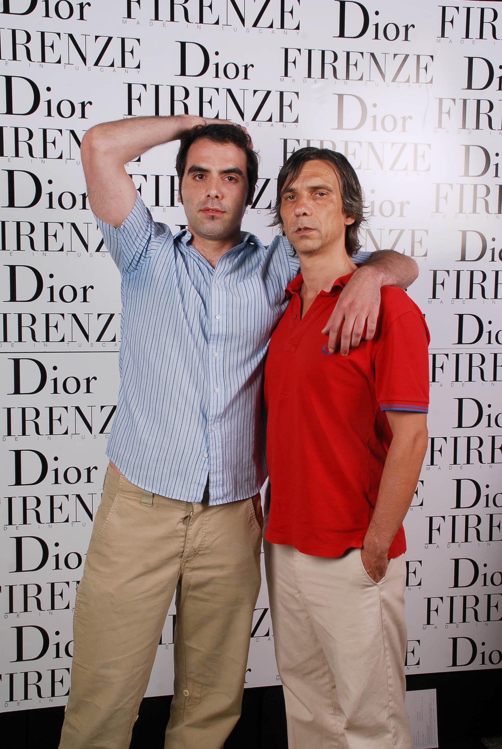 PRESSPHOTO  Firenze, evento Dior al teatro romano di Fiesole. Nella foto Francesco Terrani e Riccardo Hamrin