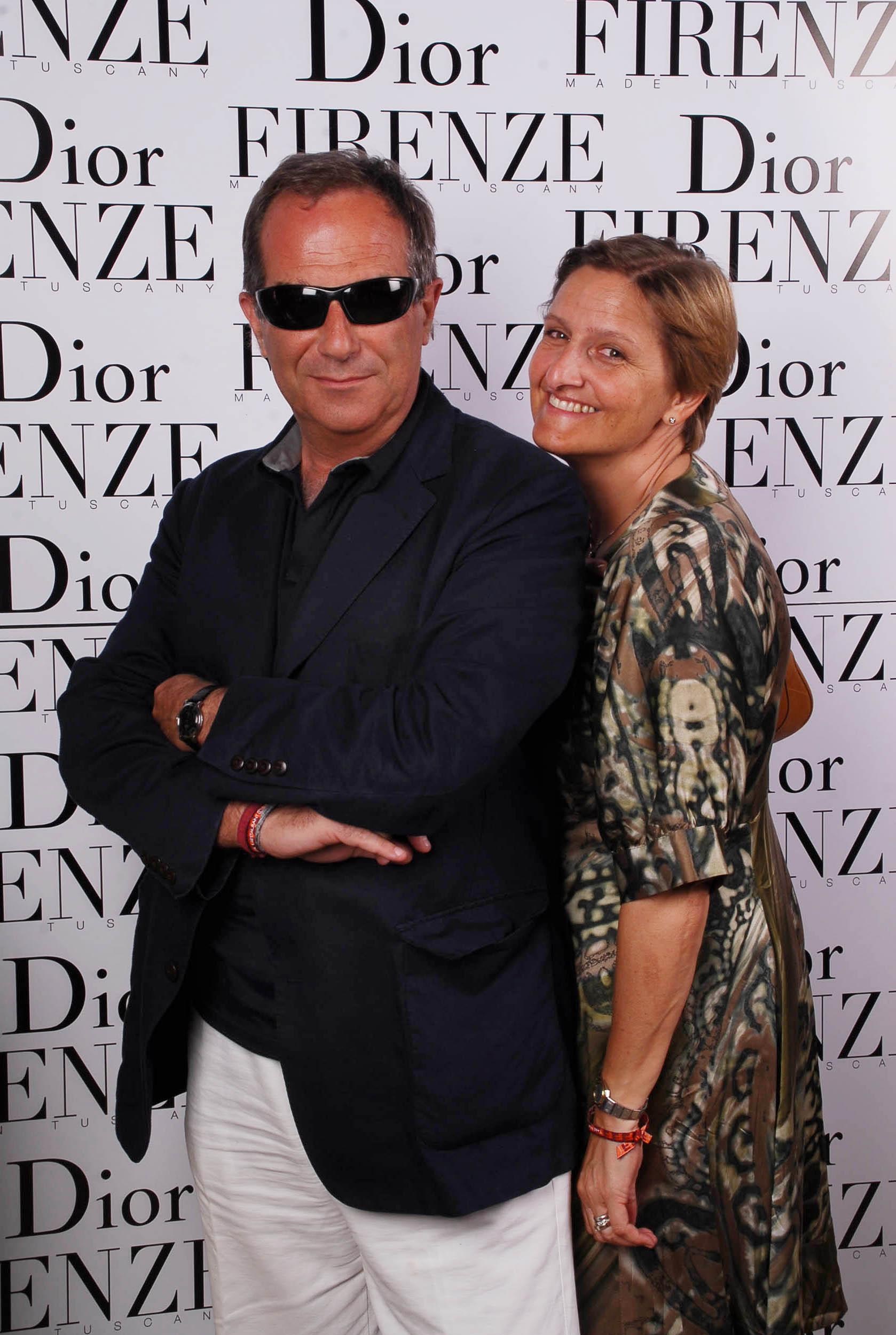PRESSPHOTO  Firenze, evento Dior al teatro romano di Fiesole. Nella foto Alessandro e Silvia Grassi