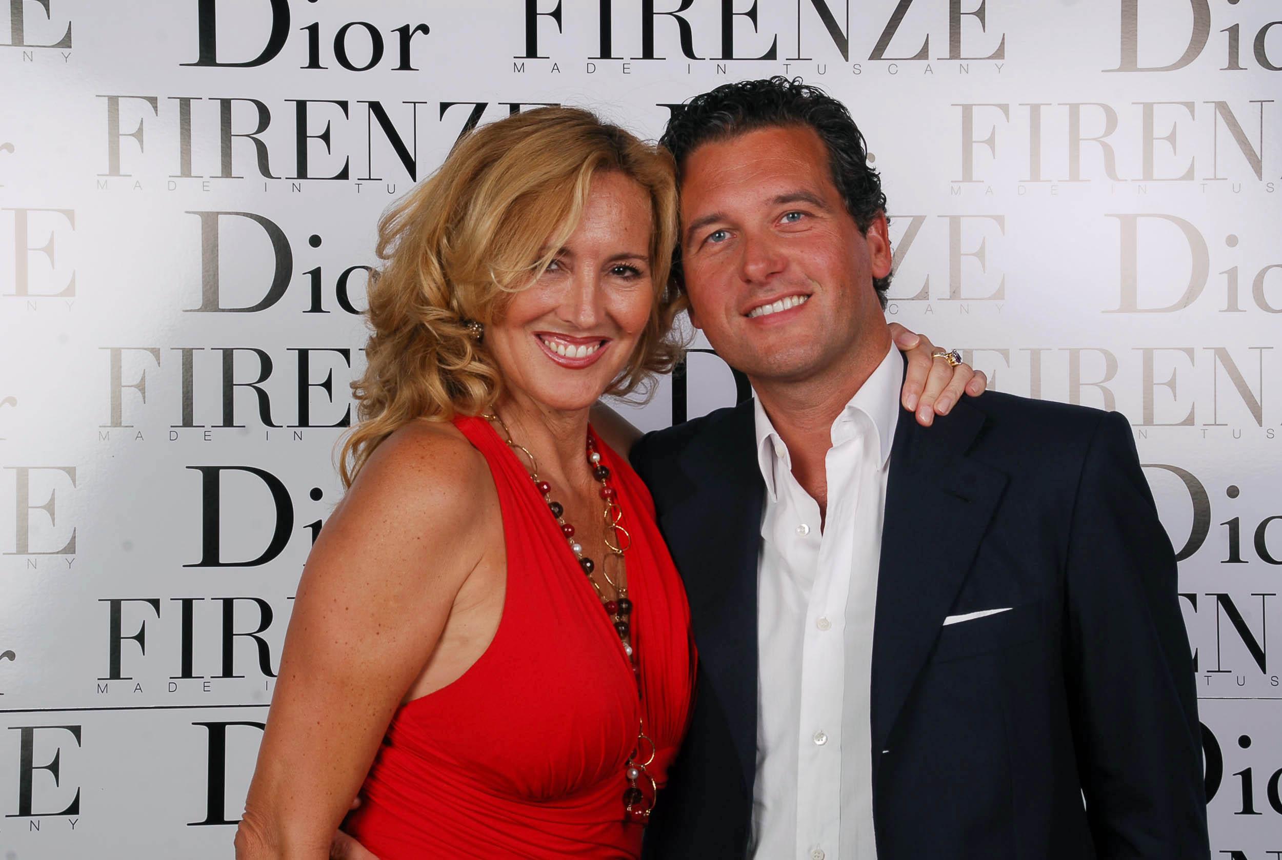 PRESSPHOTO  Firenze, evento Dior al teatro romano di Fiesole. Nella foto Pier e Jacqueline