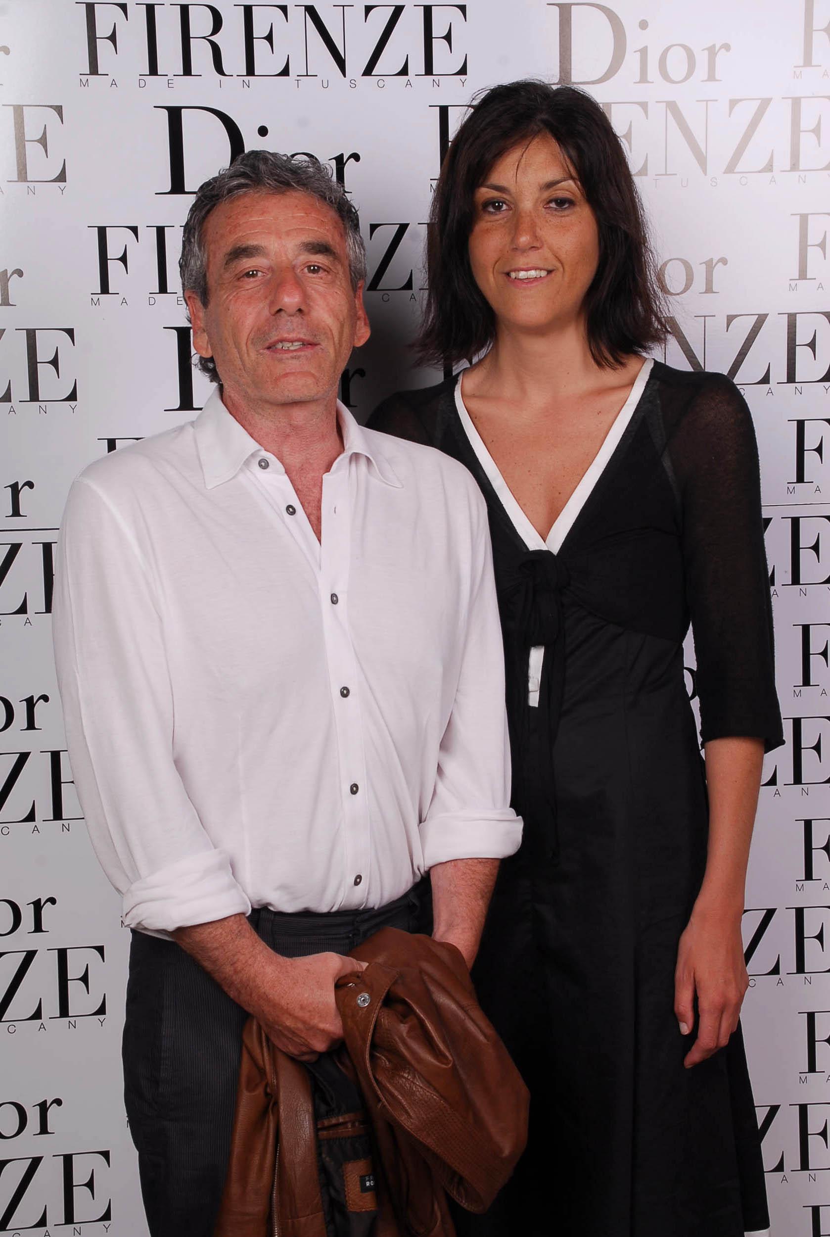 PRESSPHOTO  Firenze, evento Dior al teatro romano di Fiesole. Nella foto Francesca Parigi Bini e Luciano Aiazzi