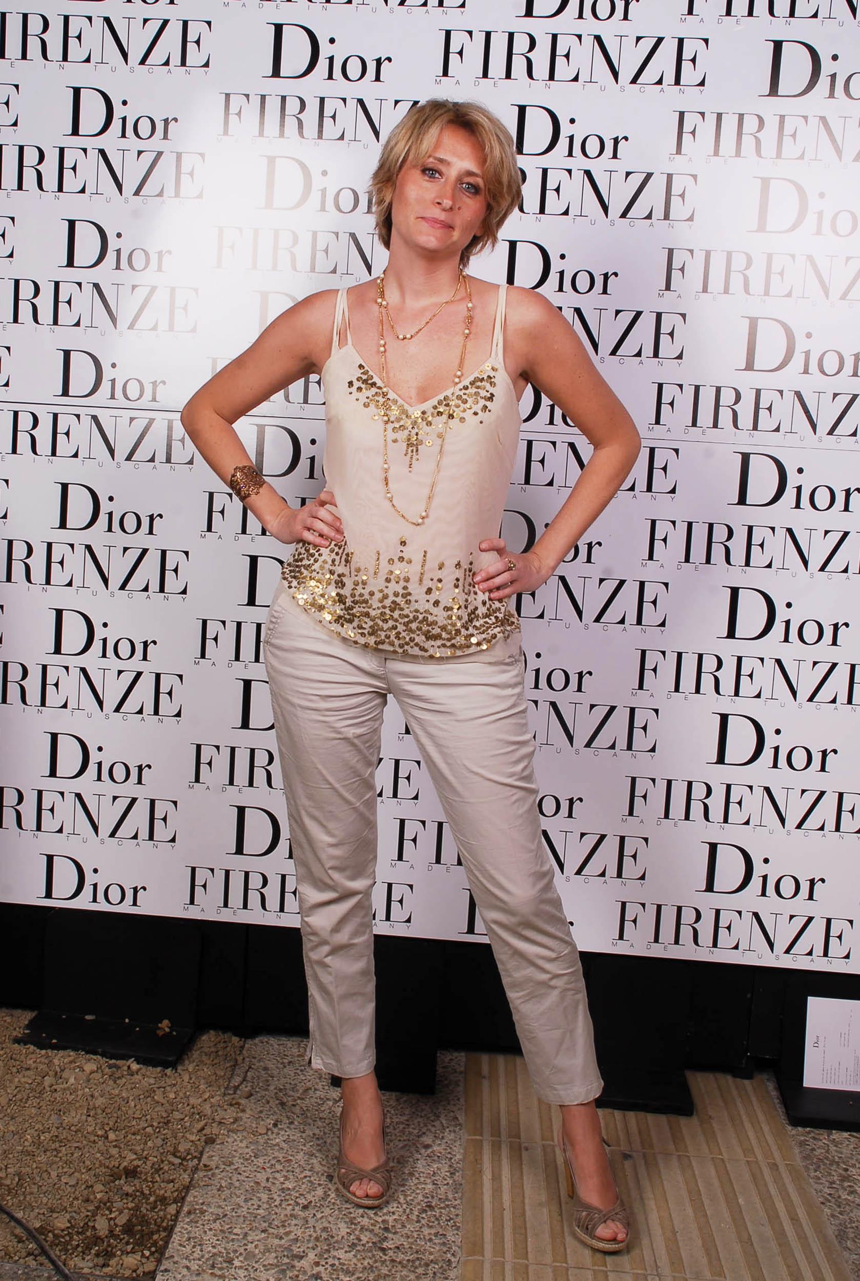 PRESSPHOTO  Firenze, evento Dior al teatro romano di Fiesole. Nella foto Sandra Salvato