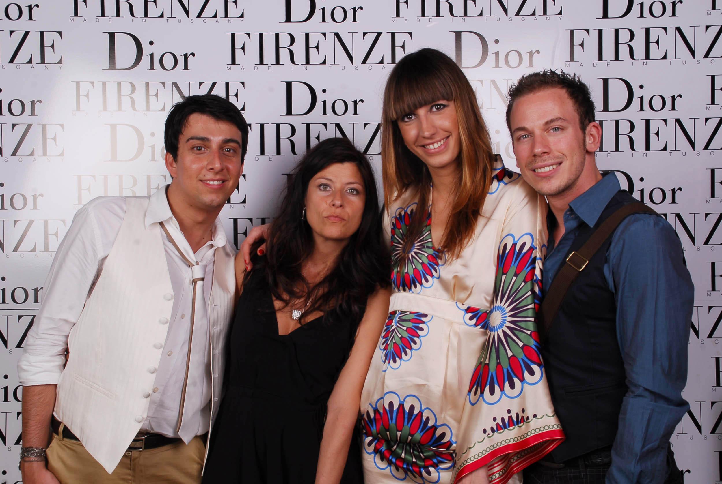 PRESSPHOTO  Firenze, evento Dior al teatro romano di Fiesole. Nella foto Leonardo Cesari, Cristina Sbrana, Domenico Lavanga e Sara Pieralli