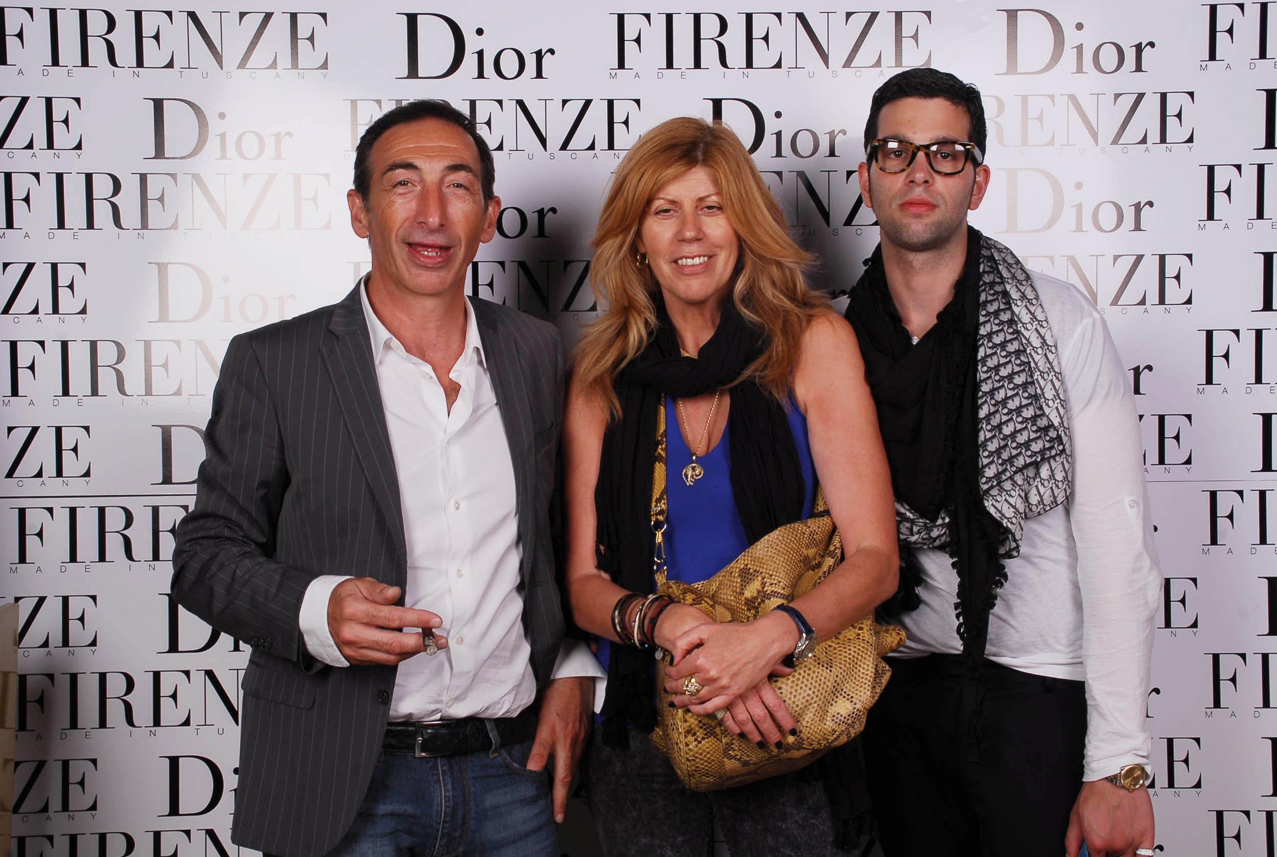PRESSPHOTO  Firenze, evento Dior al teatro romano di Fiesole. Nella foto Giorgio Brogi, Erica Costa e Daniele Pellegrinetti