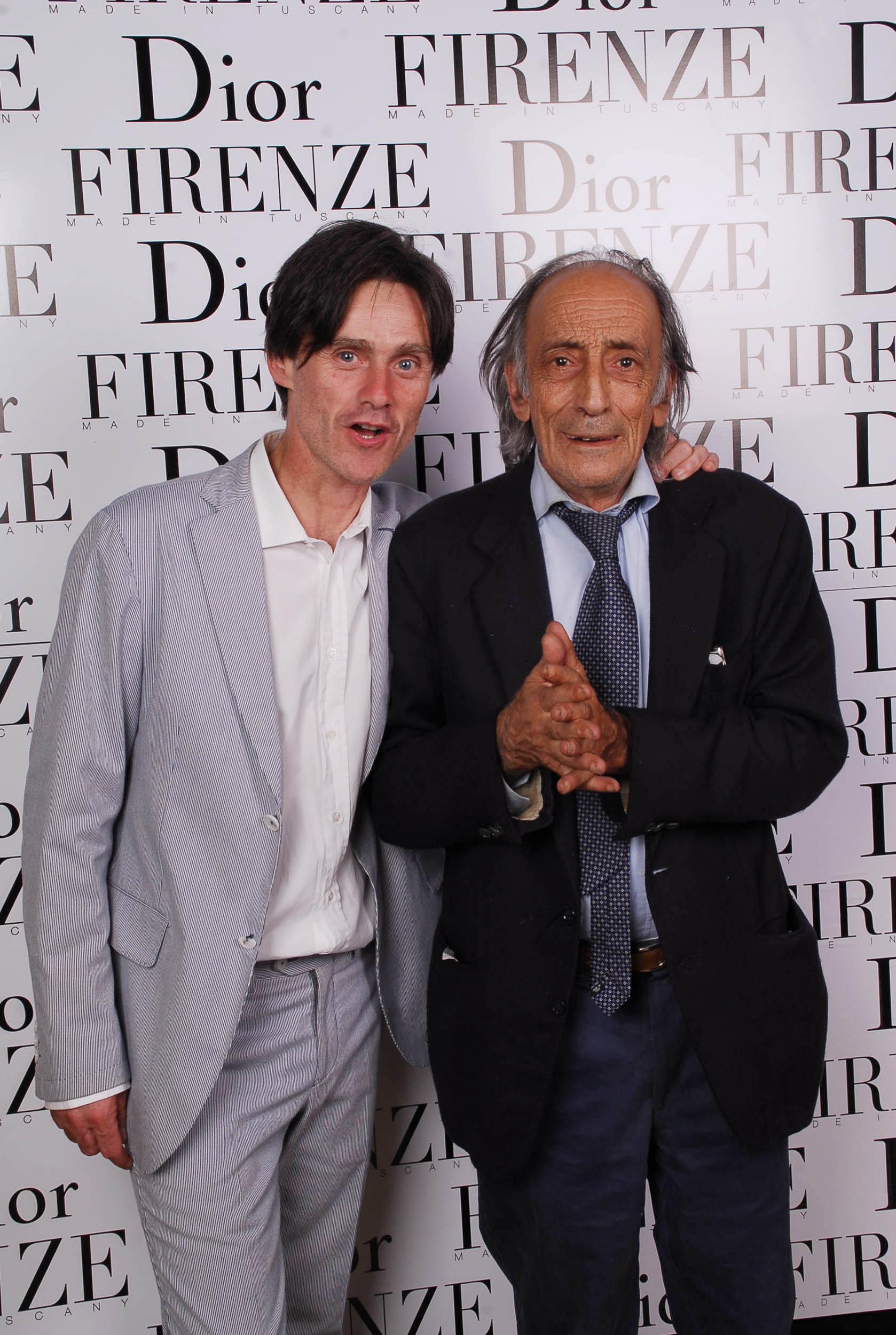 PRESSPHOTO  Firenze, evento Dior al teatro romano di Fiesole. Nella foto Pierfrancesco Listri e Paolo Becattini