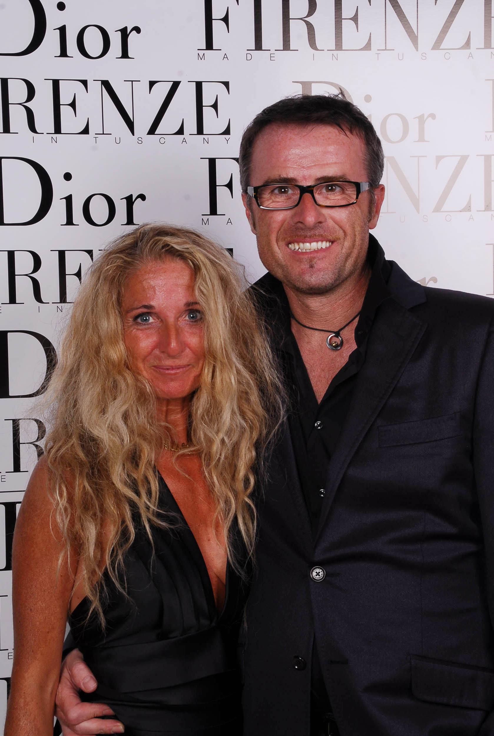 PRESSPHOTO  Firenze, evento Dior al teatro romano di Fiesole. Nella foto Sibilla Morozzi e Fabrizio Ferrini