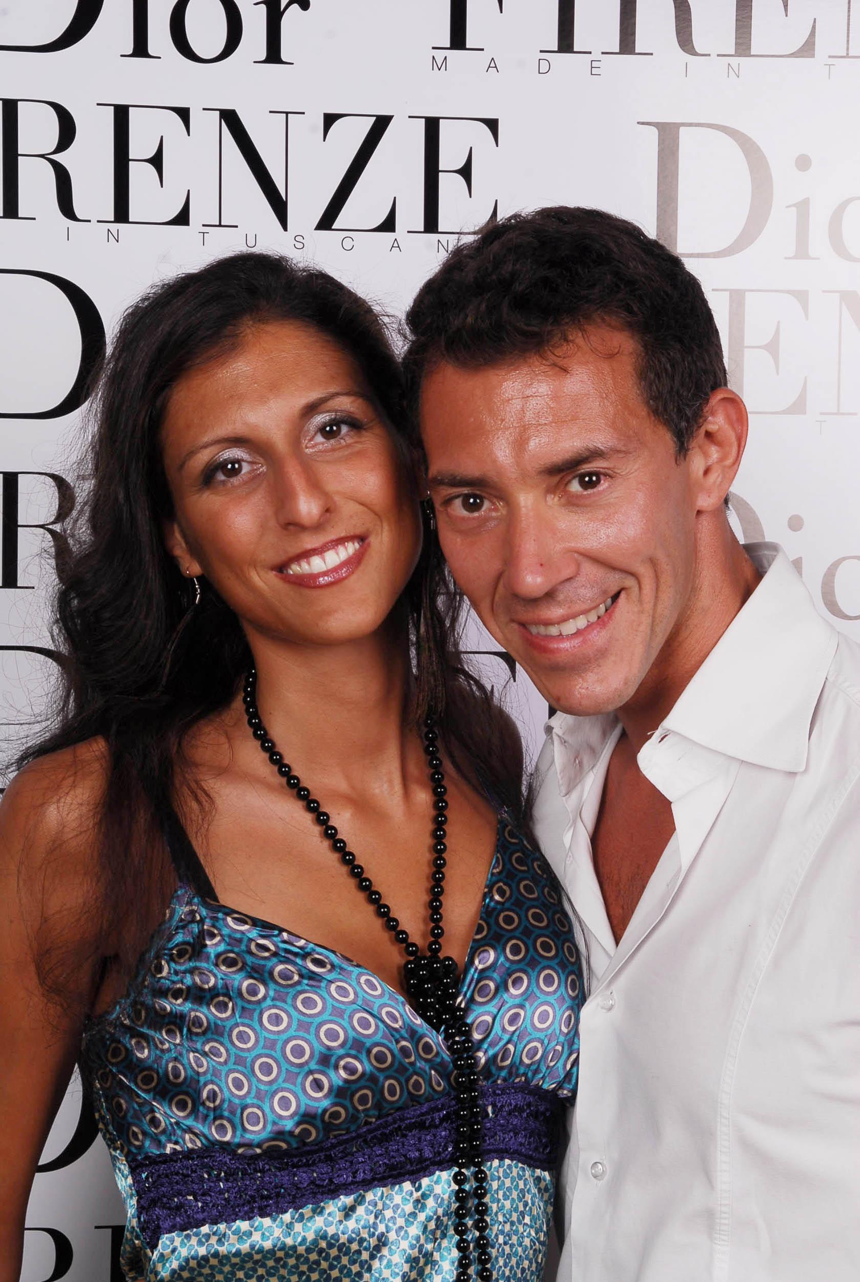 PRESSPHOTO  Firenze, evento Dior al teatro romano di Fiesole. Nella foto Eleonora Guidoni e Luca Burgalassi