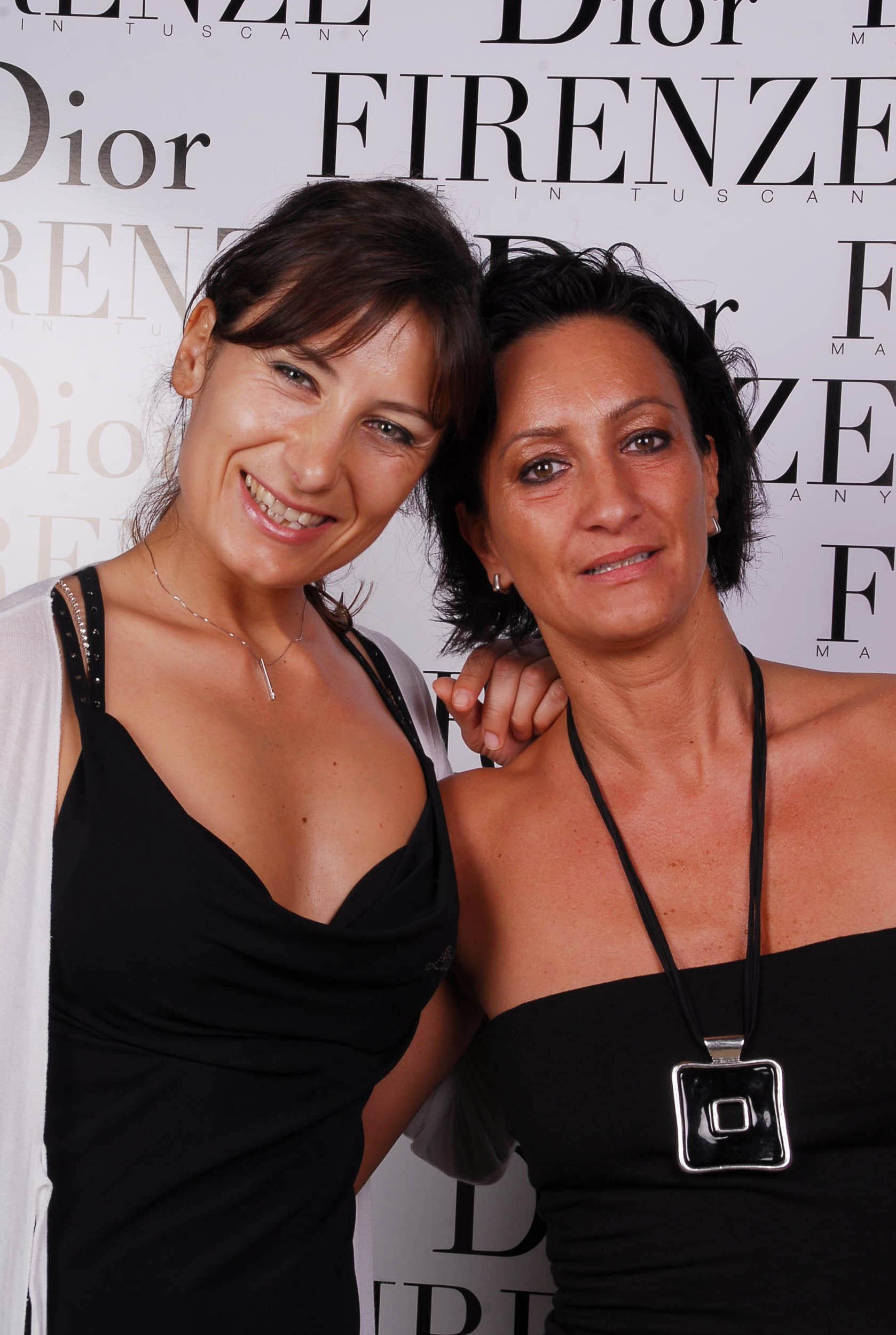 PRESSPHOTO  Firenze, evento Dior al teatro romano di Fiesole. Nella foto Laura Sarti e Susanna Tarchiani