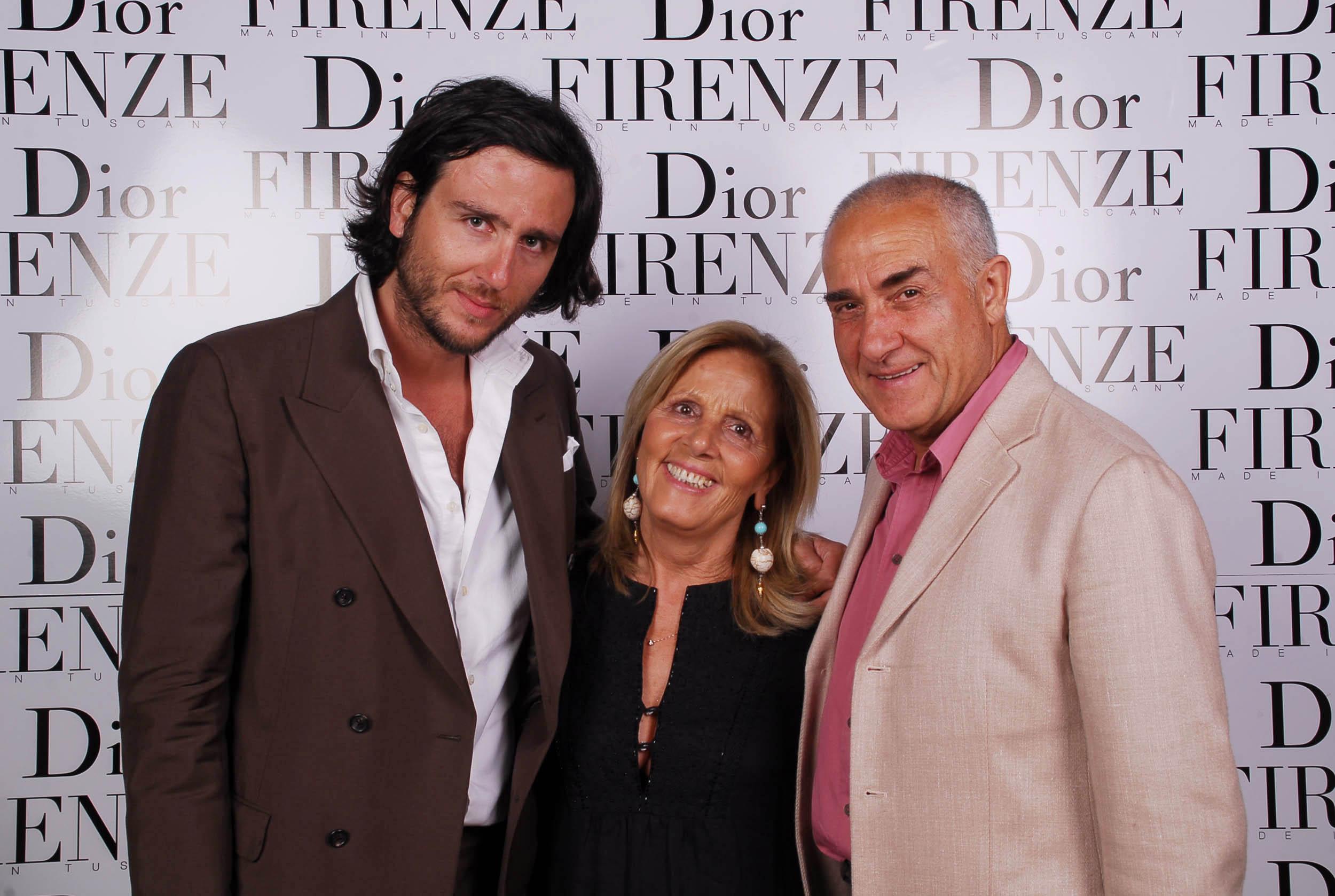PRESSPHOTO  Firenze, evento Dior al teatro romano di Fiesole. Nella foto famiglia Lana
