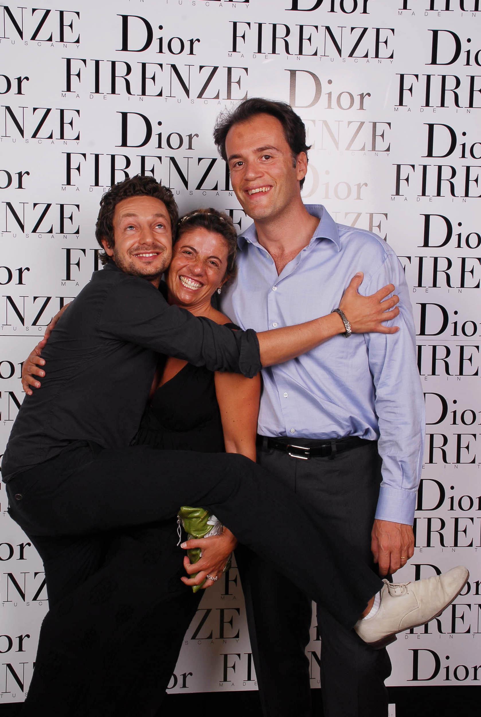 PRESSPHOTO  Firenze, evento Dior al teatro romano di Fiesole. Nella foto David Panbiancom Monica Sarti e Michael Hadida
