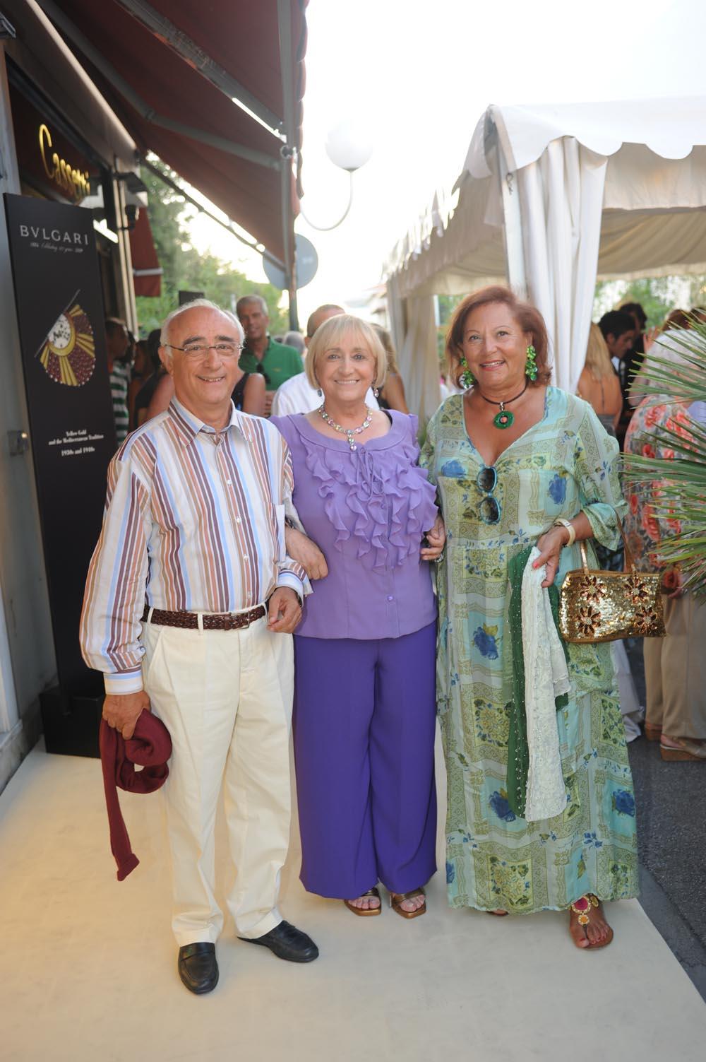 Forte dei Marmi  19 luglio 20009  festa e sfilata Bulgari da Cassetti  Andrea Calderazzi e Maria Antonietta Longo