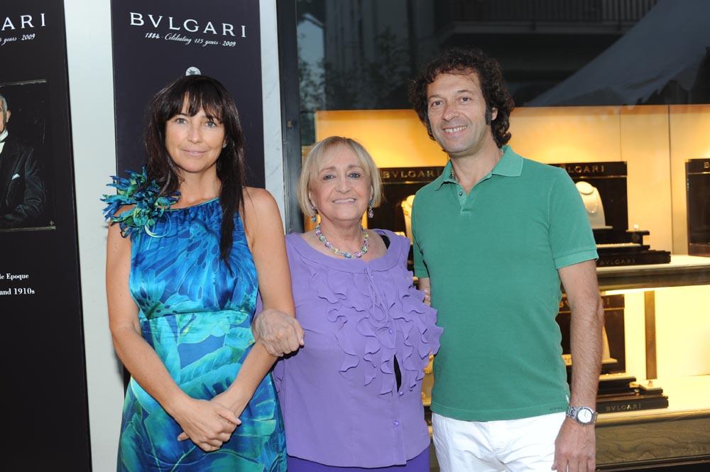 Forte dei Marmi  19 luglio 20009  festa e sfilata Bulgari da Cassetti  Cristina e Stefano Casini