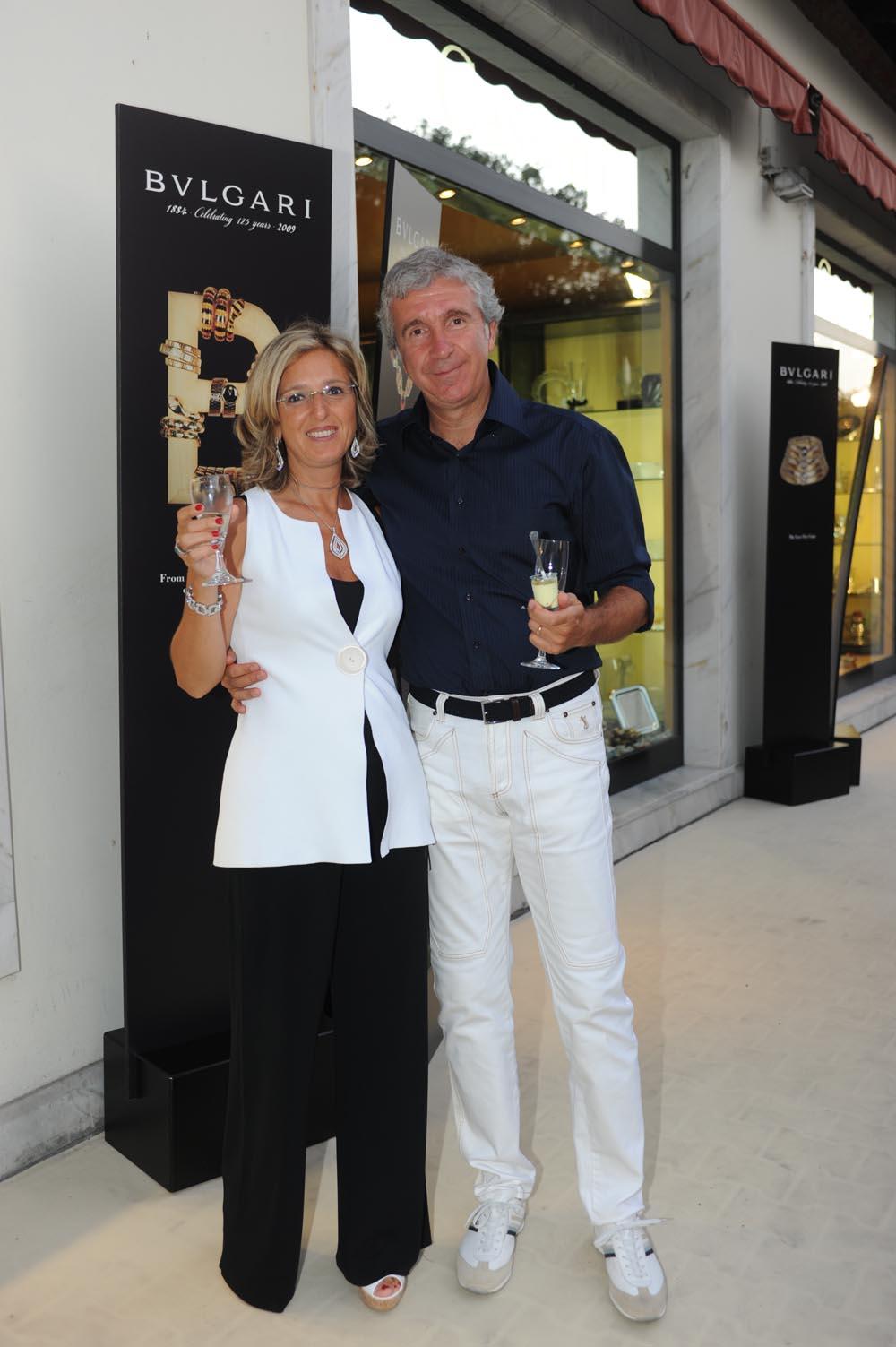 Forte dei Marmi  19 luglio 20009  festa e sfilata Bulgari da Cassetti  Casini Carla e Marco