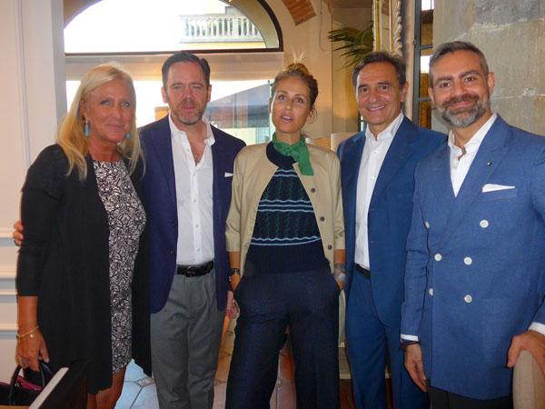Elonora Frescobaldi, Warren Knight, Novella Benini, Cesare Prandelli e Olivier de Molina