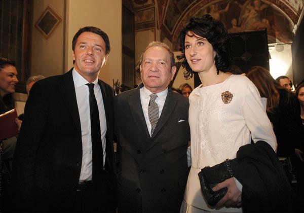 Matteo Renzi, Ermanno Scervino and Agnese Renzi
