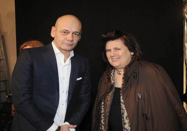 Toni Scervino and Suzy Menkes
