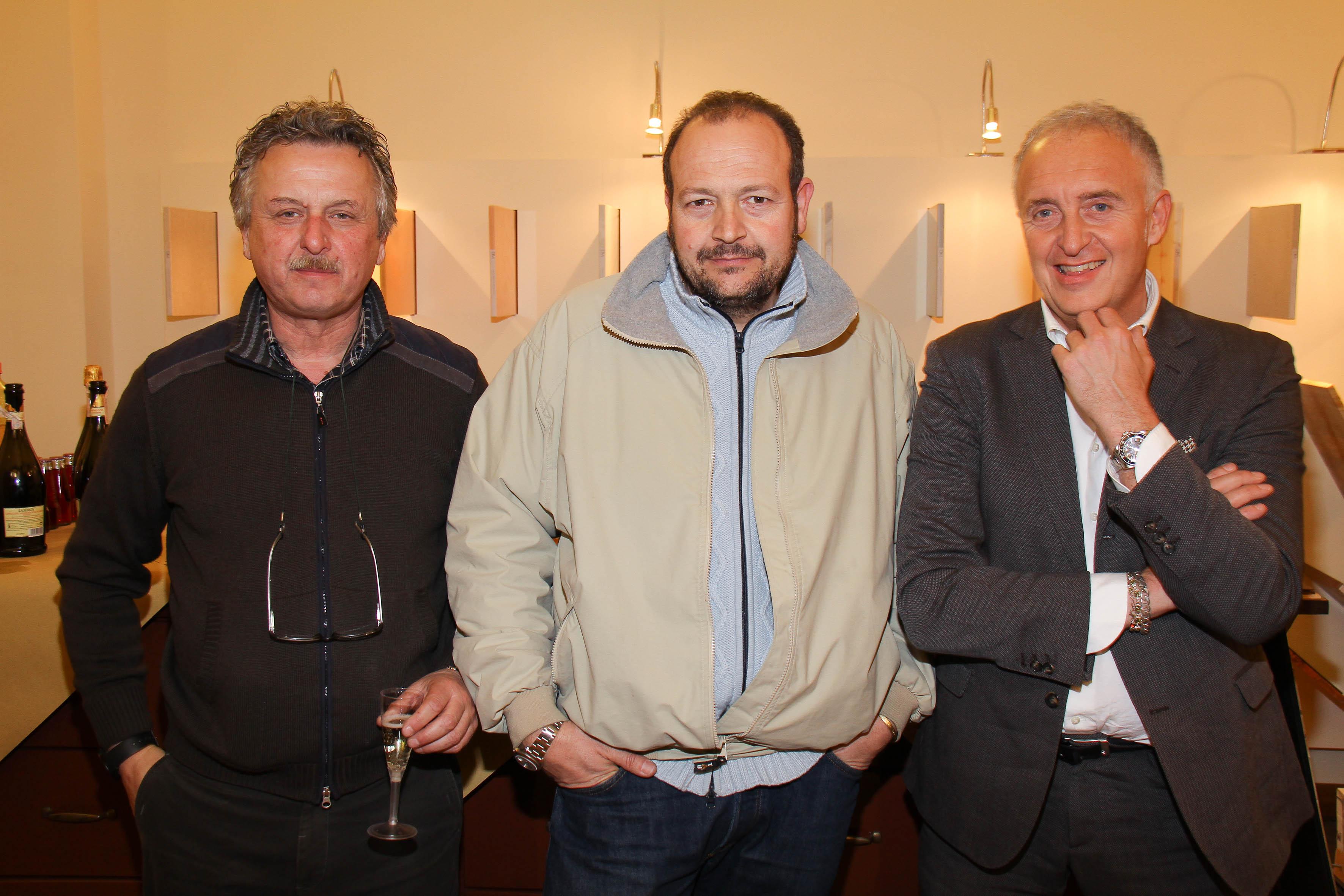 PRESSPHOTO Firenze, EWF Officine Parquet. Nella foto William  Ferrari, Simone Fornaciari e Stefano Sartoni