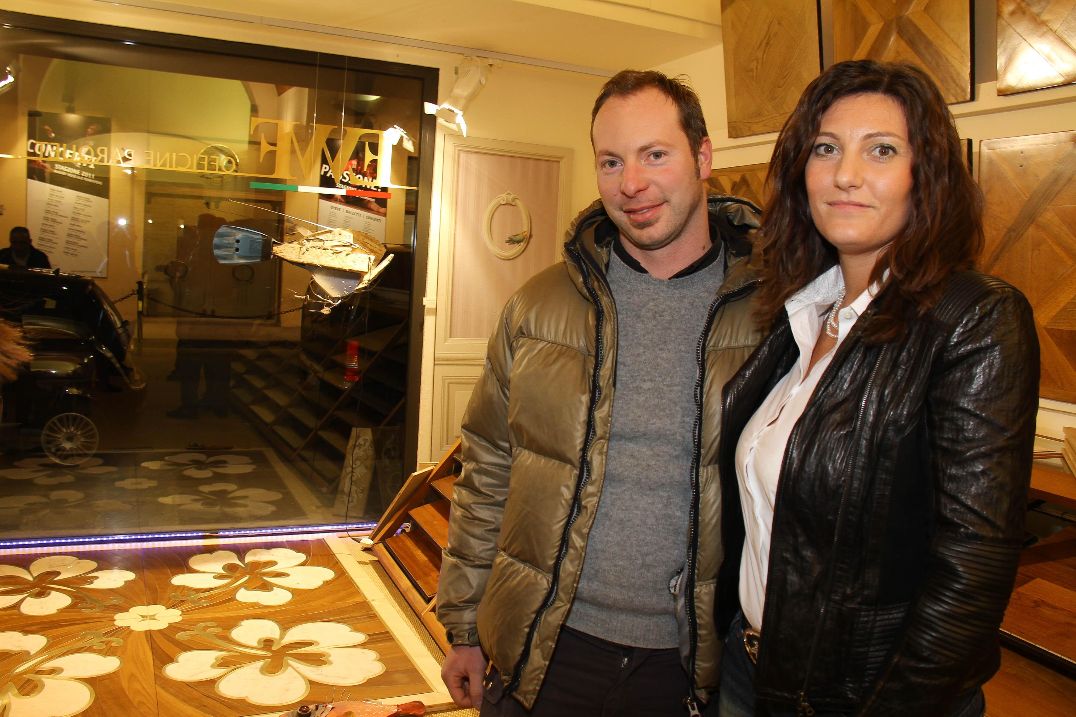 PRESSPHOTO Firenze, EWF Officine Parquet. Nella foto Laura Baccelli con Federico Benedetti