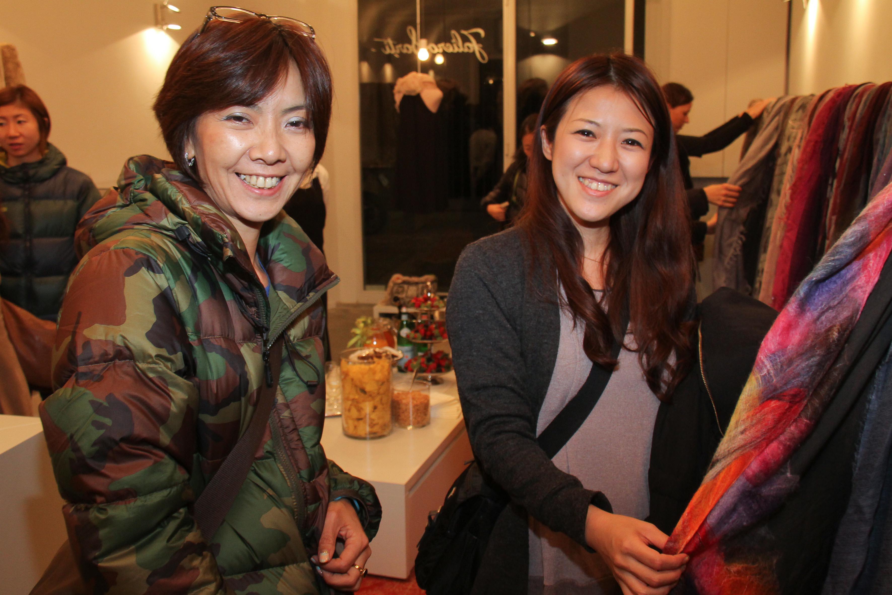 PRESSPHOTO Firenze, Faliero Sarti. Nella foto Sachiko Tokunaga e Etsuko Sano  Giuseppe cabras/new pressphoto