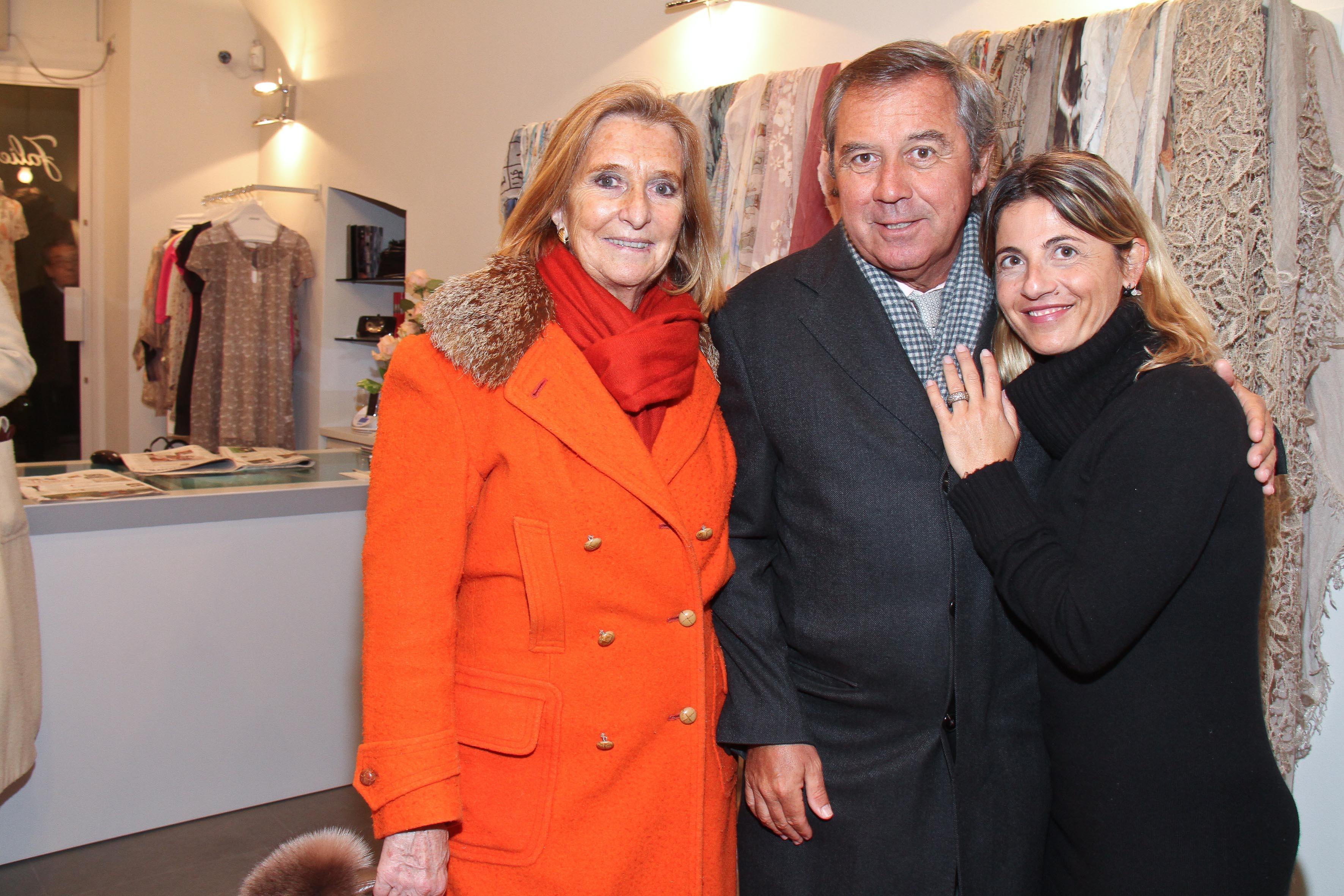 PRESSPHOTO Firenze, Faliero Sarti. Nella foto Gaetano Marzott, Sibilla della Gherardesca e Monica Sarti  Giuseppe cabras/new pressphoto
