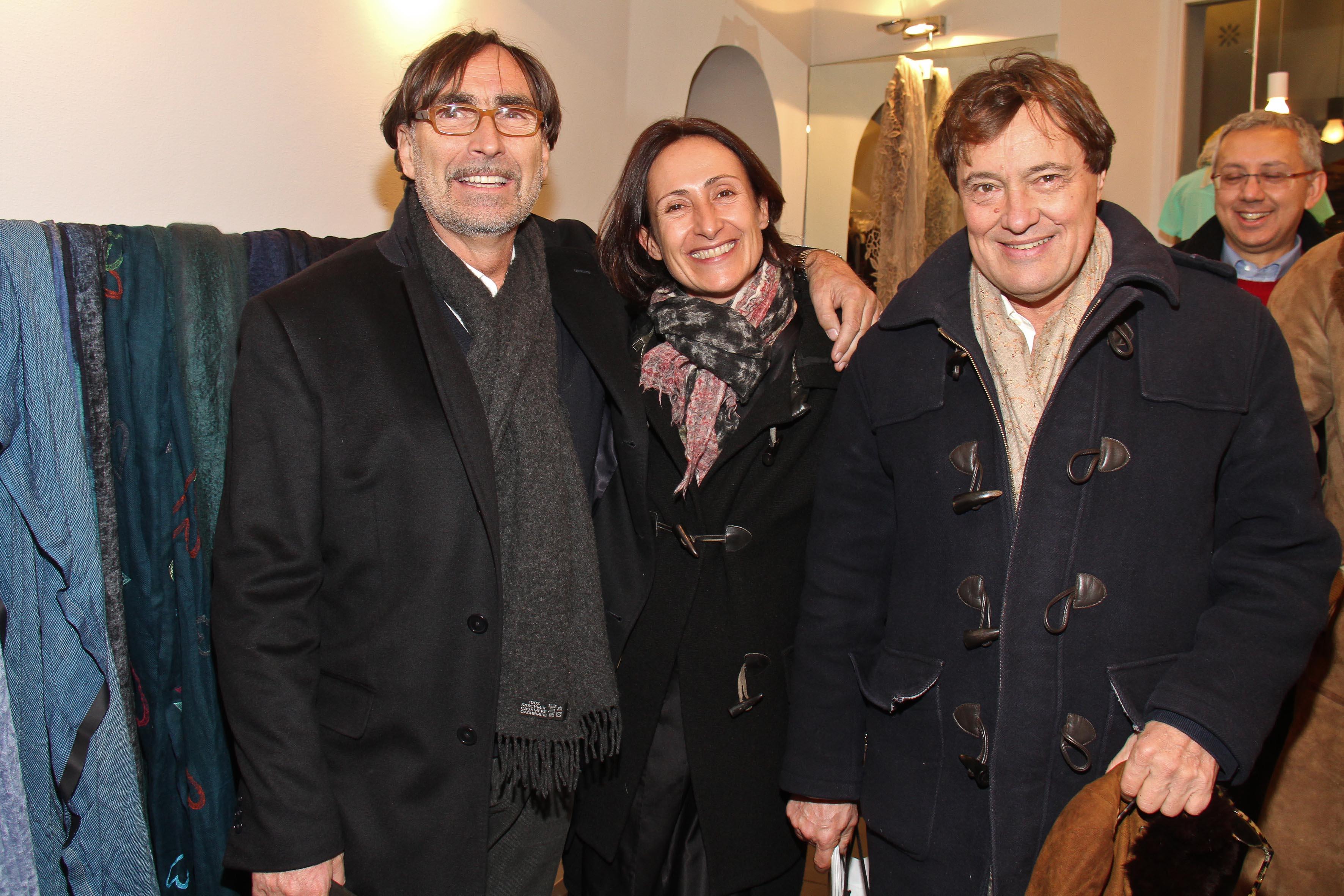PRESSPHOTO Firenze, Faliero Sarti. Nella foto Maria Giulia Parapini, Peter Marangoni e Claudio Nardi  Giuseppe cabras/new pressphoto