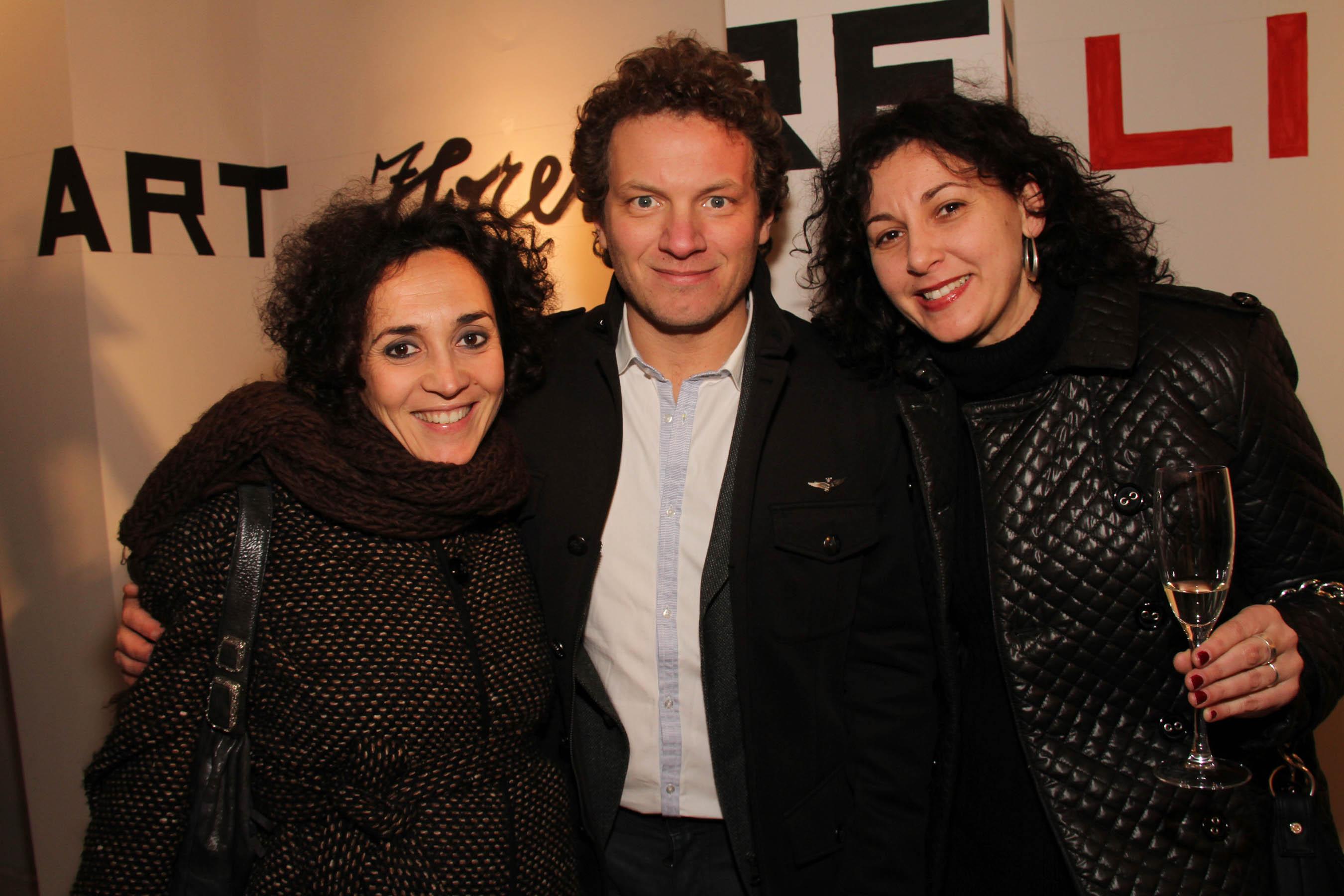 PRESSPHOTO Firenze, festa Firenze Magazine #13, For Gallery. Nella foto Gioia Giovannangeli, Matteo Becucci e Ilaria Legato