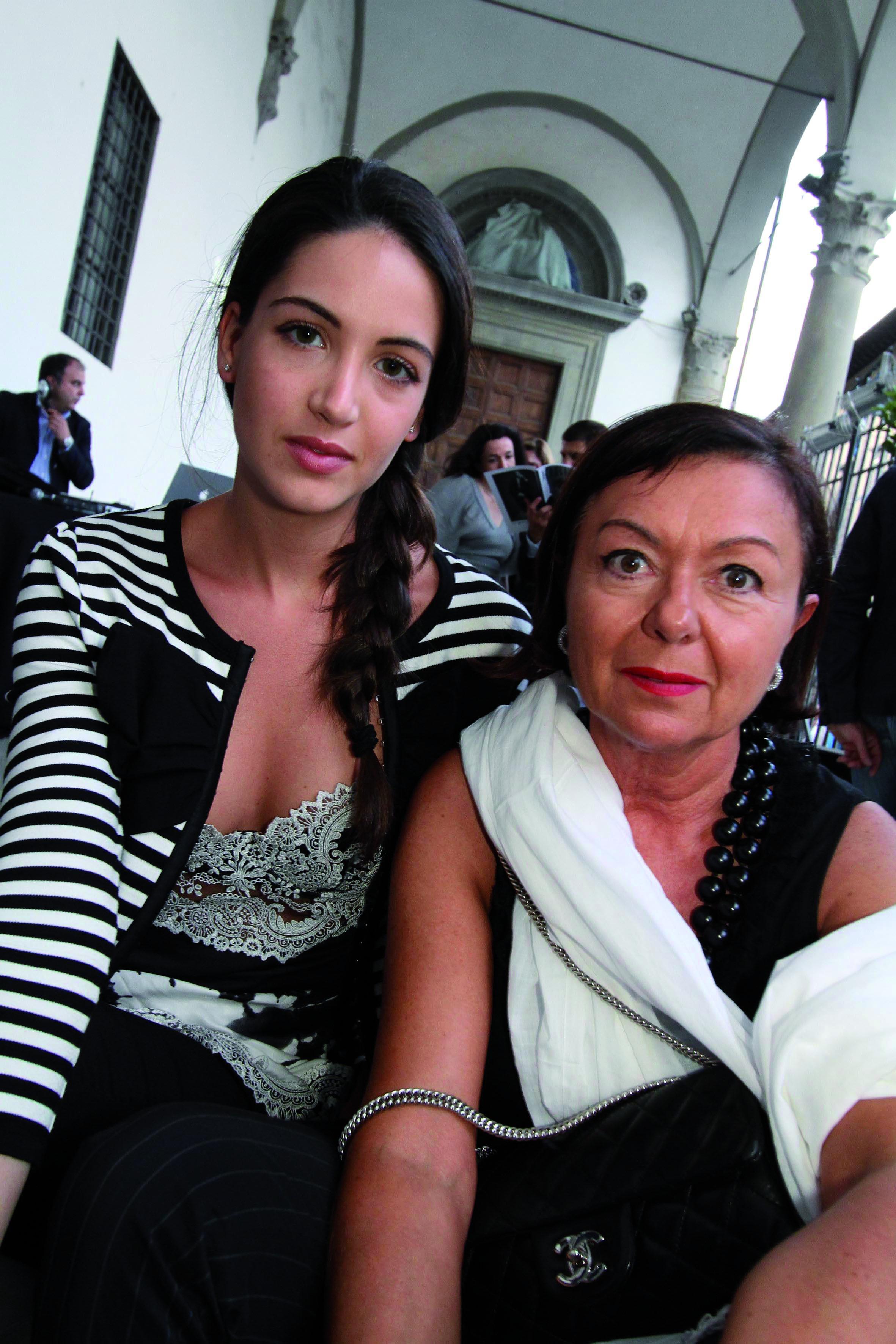 PRESSPHOTO Firenze, festa Firenze Magazine al museo Alinari. Nella foto Giulia Luchi e Renza Silvestri