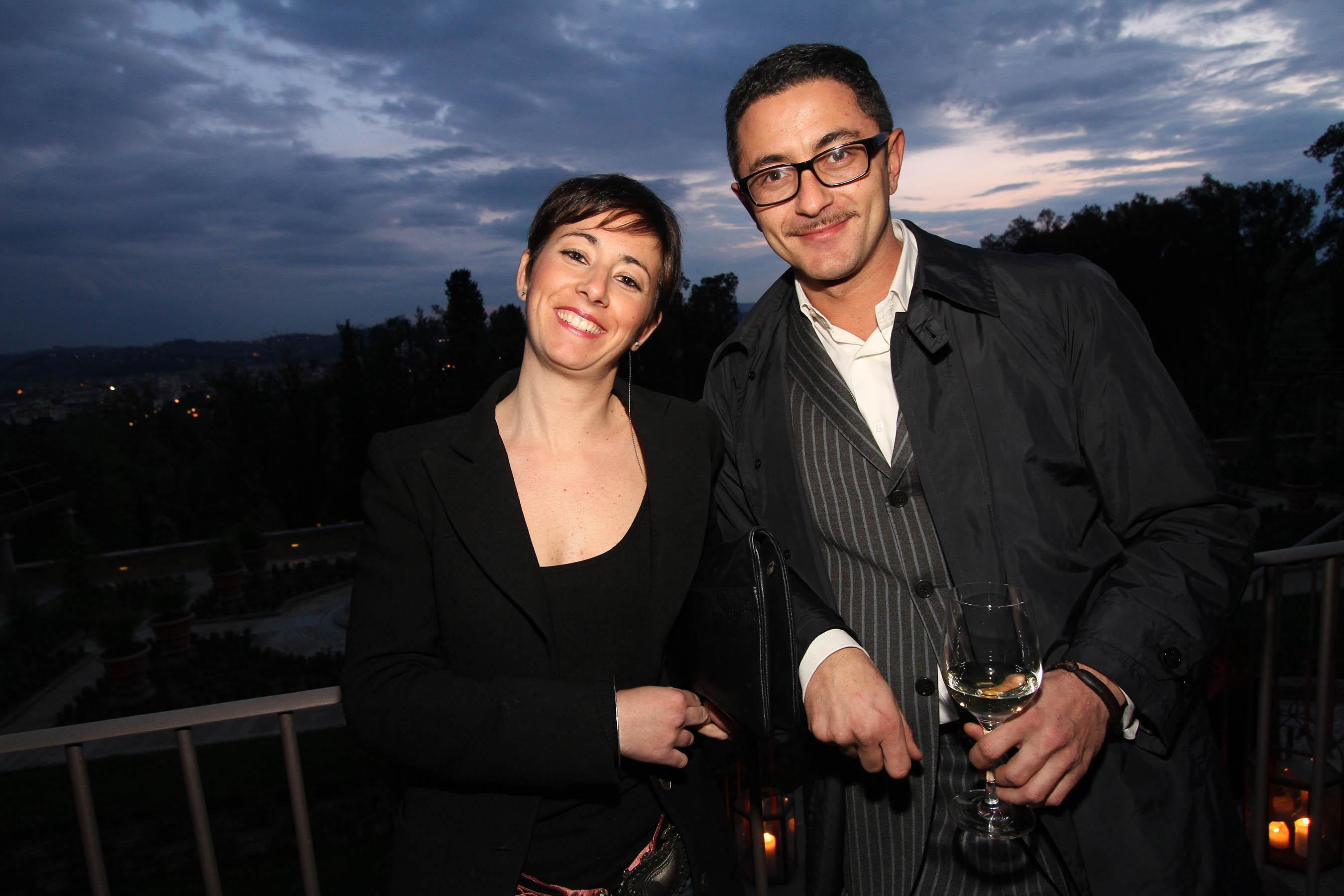 PRESSPHOTO Firenze, festa Firenze Magazine. Nella foto Enrico Lanari e Giulia Marcucci