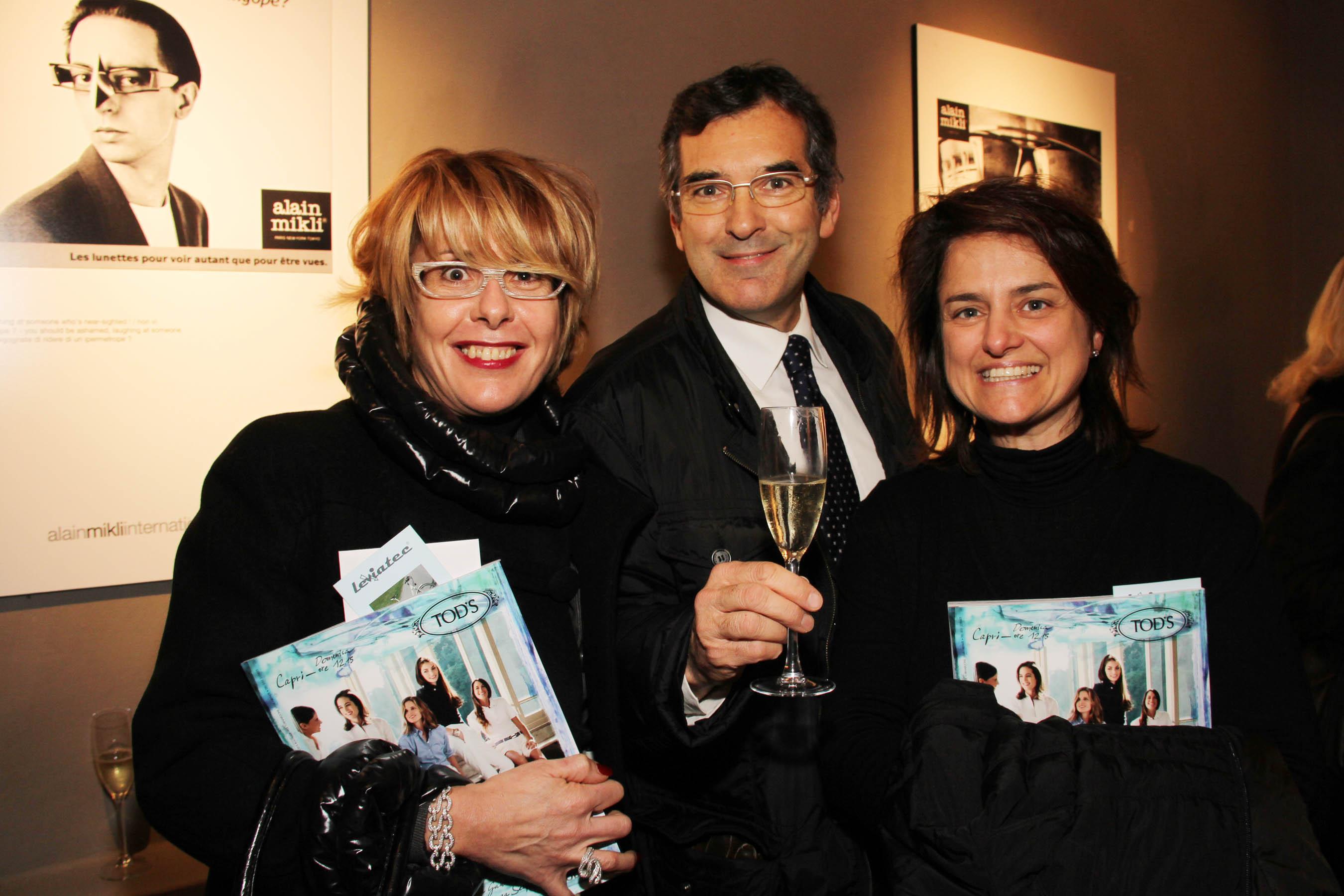 PRESSPHOTO Firenze, festa Firenze Magazine #13, For Gallery. Nella foto Donatella, Mario e Alessandra Fontani