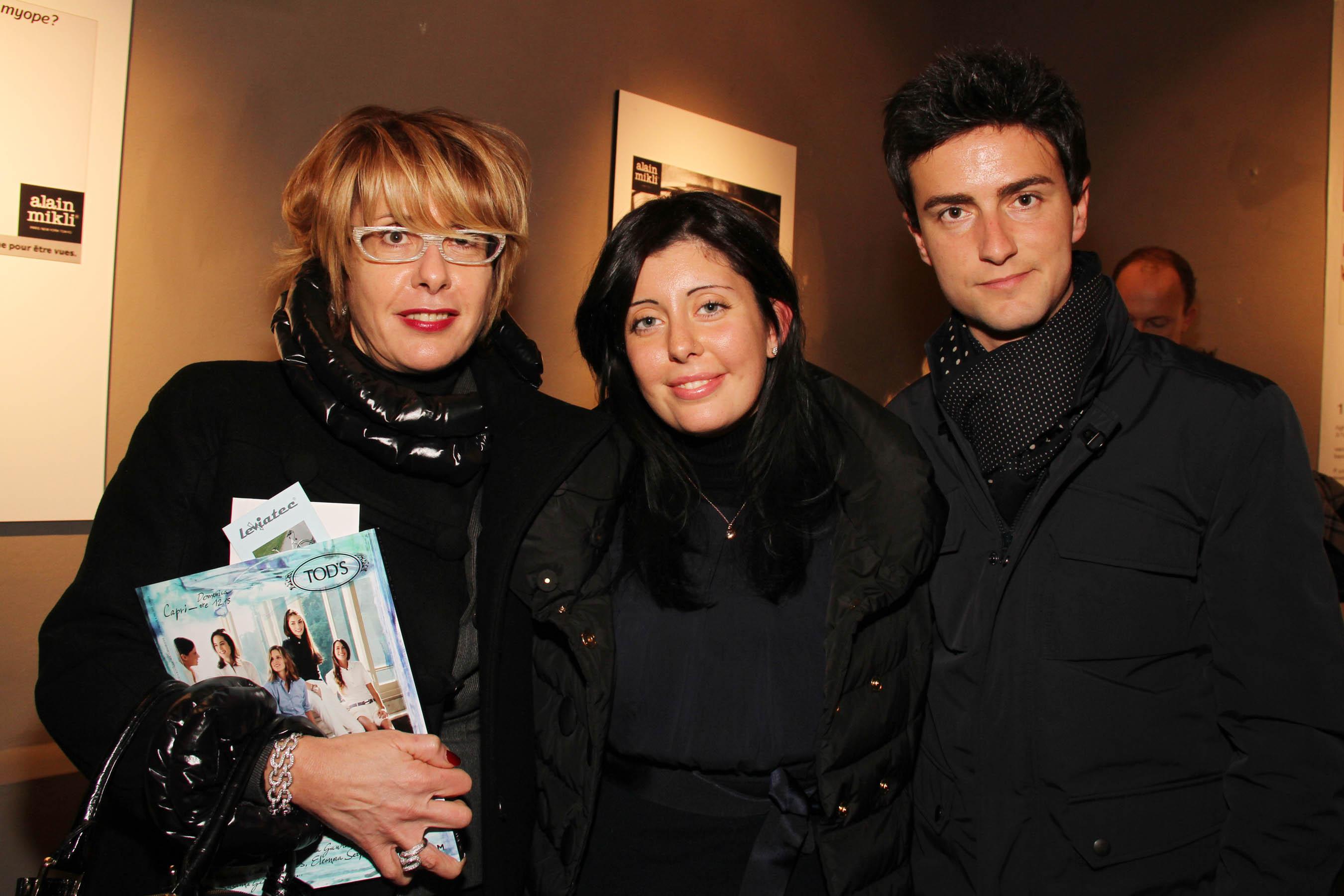 PRESSPHOTO Firenze, festa Firenze Magazine #13, For Gallery. Nella foto Francesco Tosi con Eleonora e Donatella Fontani